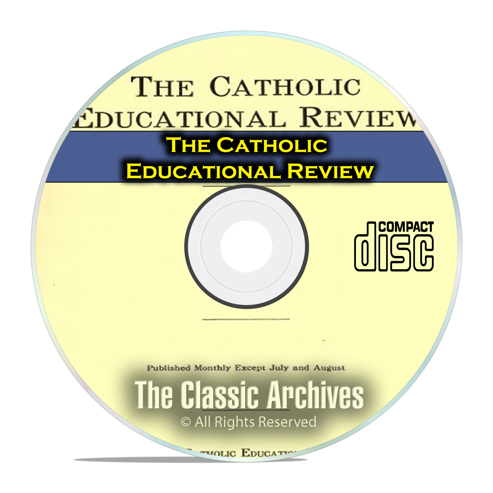 The Catholic Educational Review, by Catholic University, Vintage, PDF CD