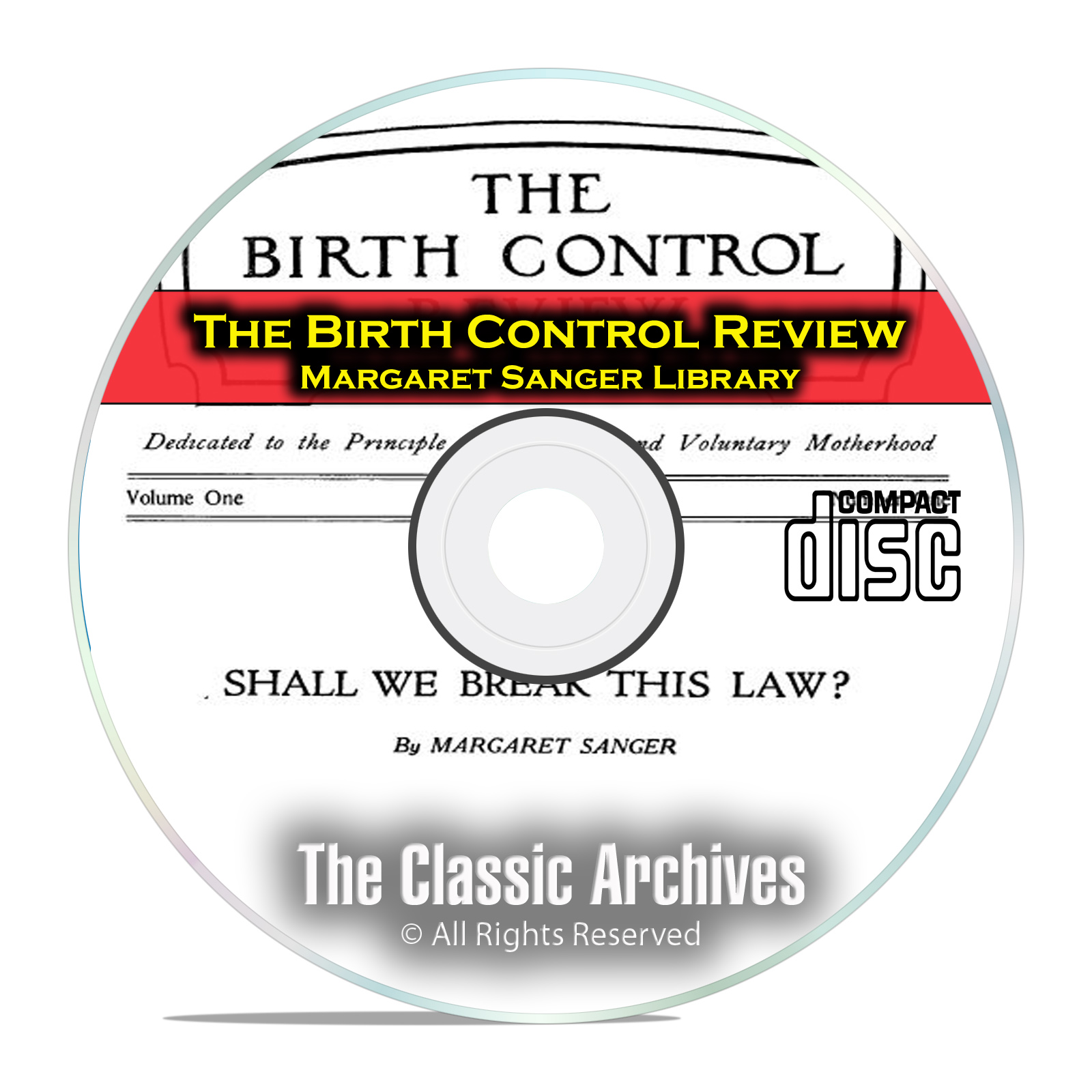The Birth Control Review, Margaret Sanger Library, 243 Issues Books PDF CD
