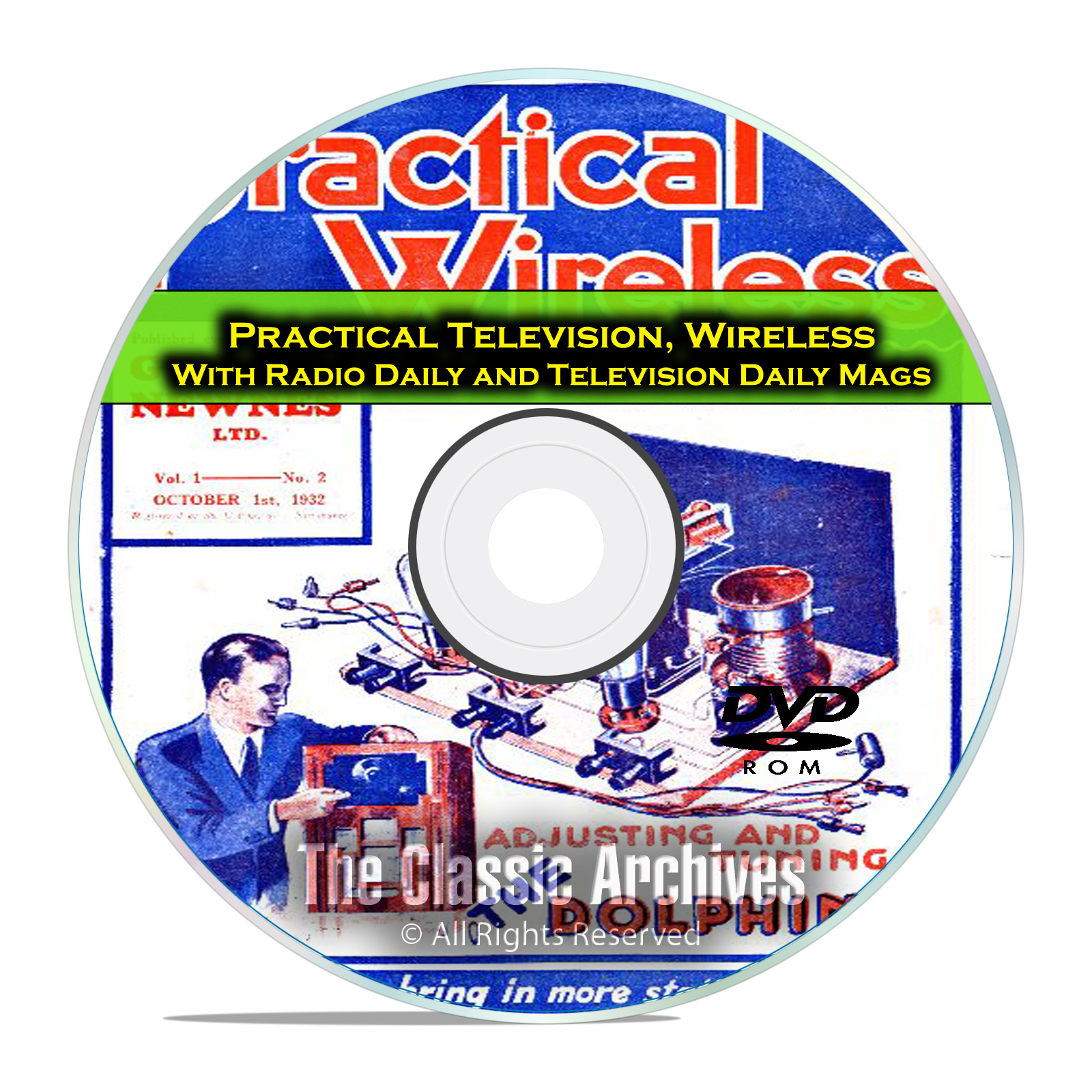 Practical Television, Practical Wireless, 458 Old Time Radio Magazines DVD