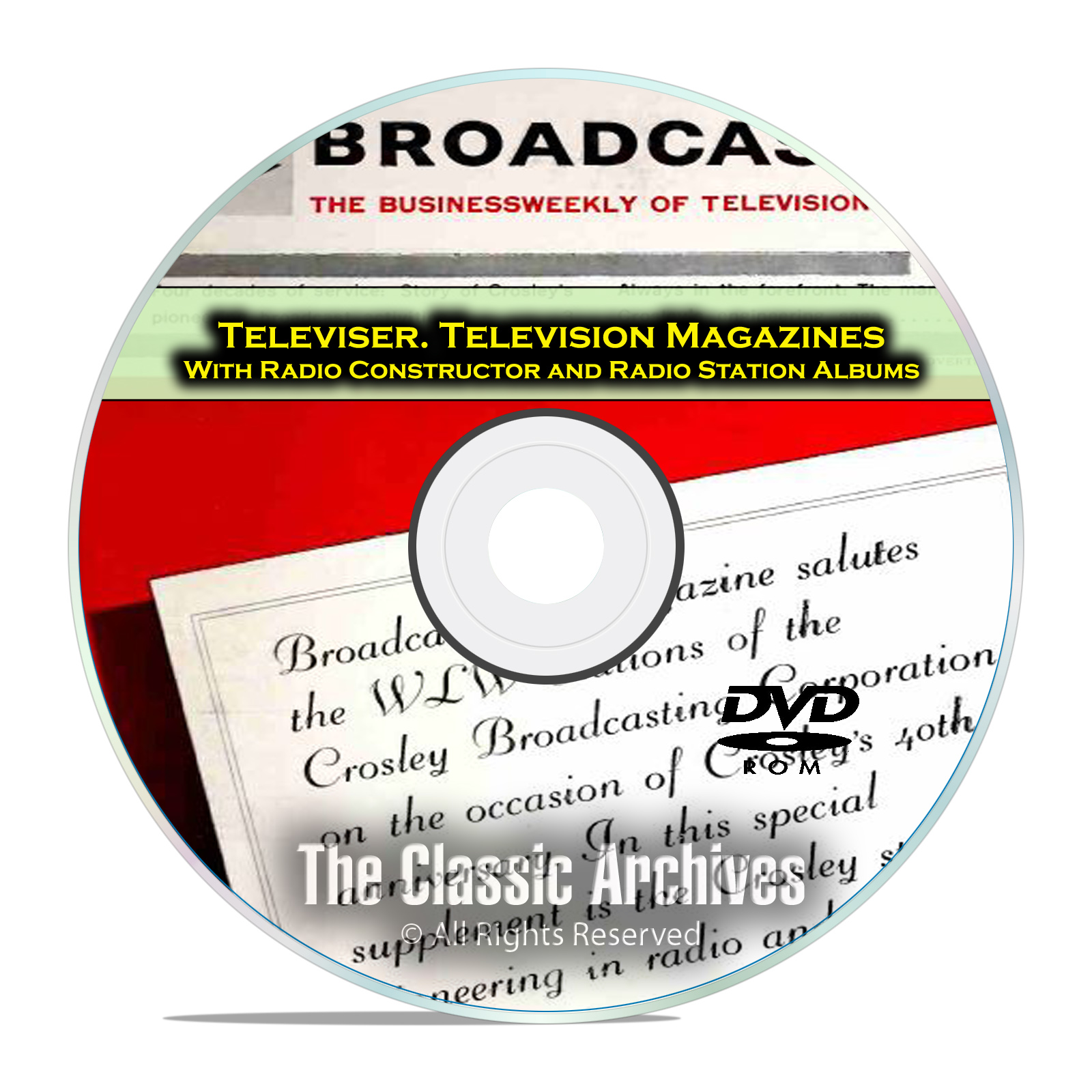 Radio-TV Station Albums Radio Constructor, 651 Old Time Radio Magazines DVD