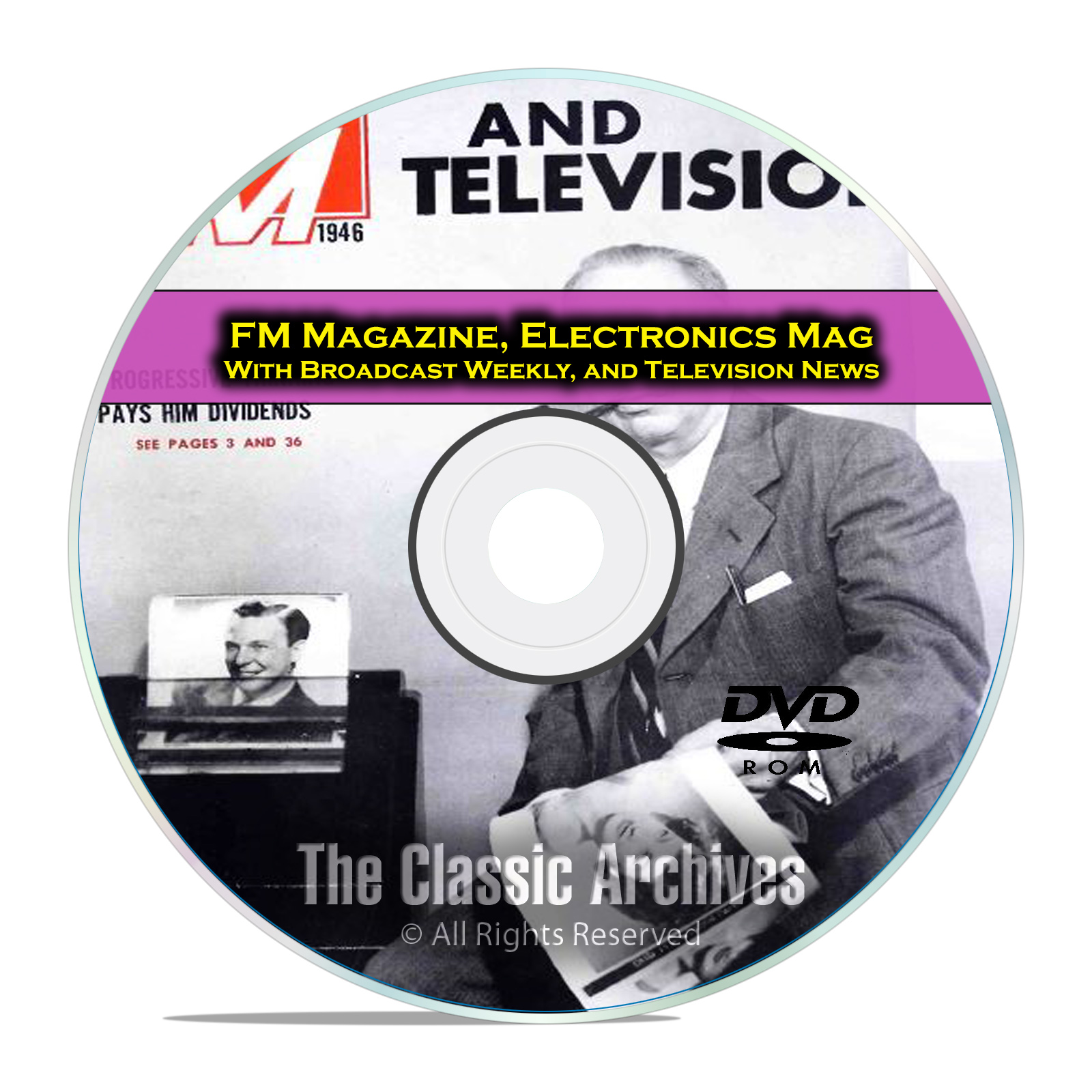 Broadcast Weekly, Electronics Magazine 504 Old Time Radio Magazines PDF DVD