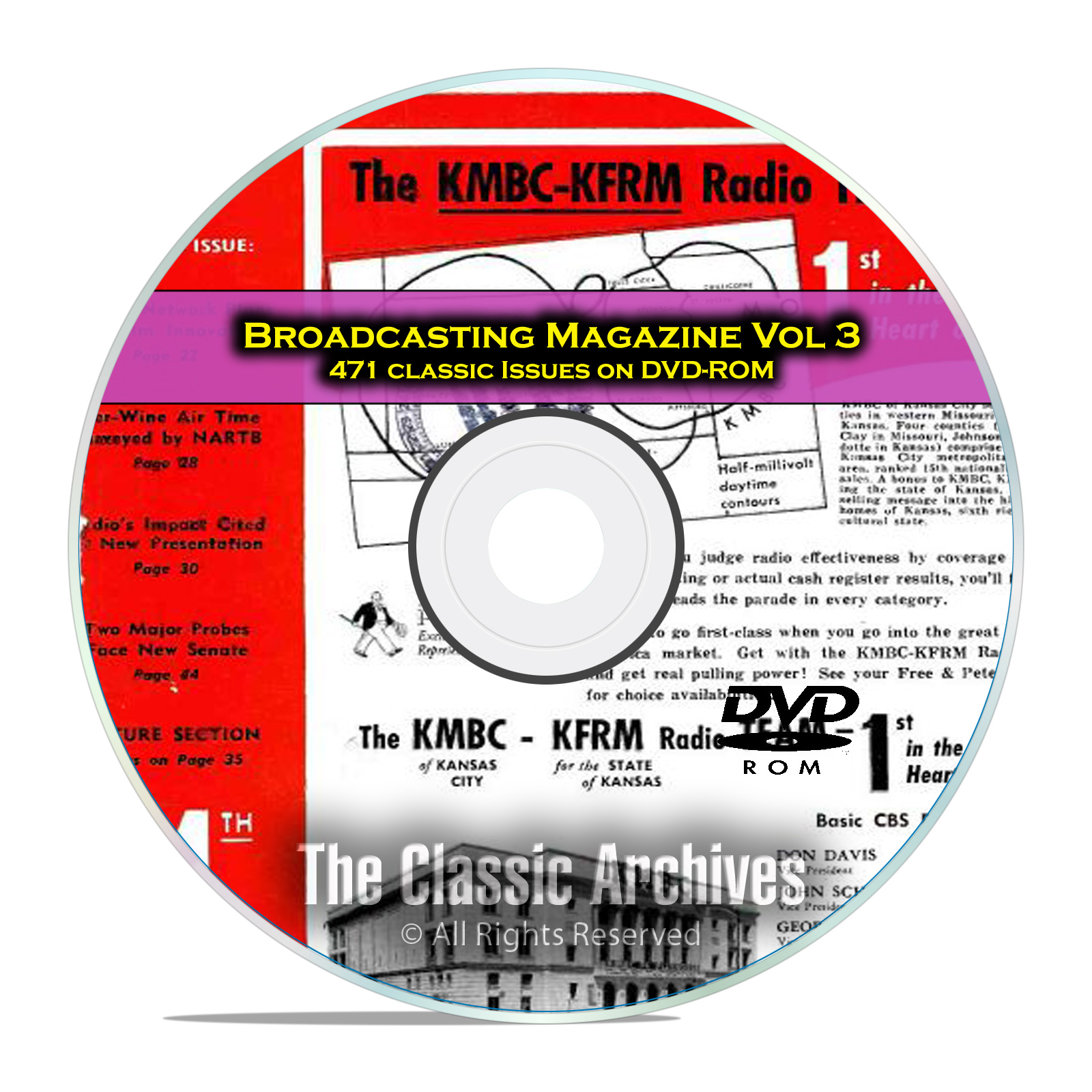Broadcasting Magazine, Volume 3, 471 Old Time Radio OTR Magazines PDF DVD