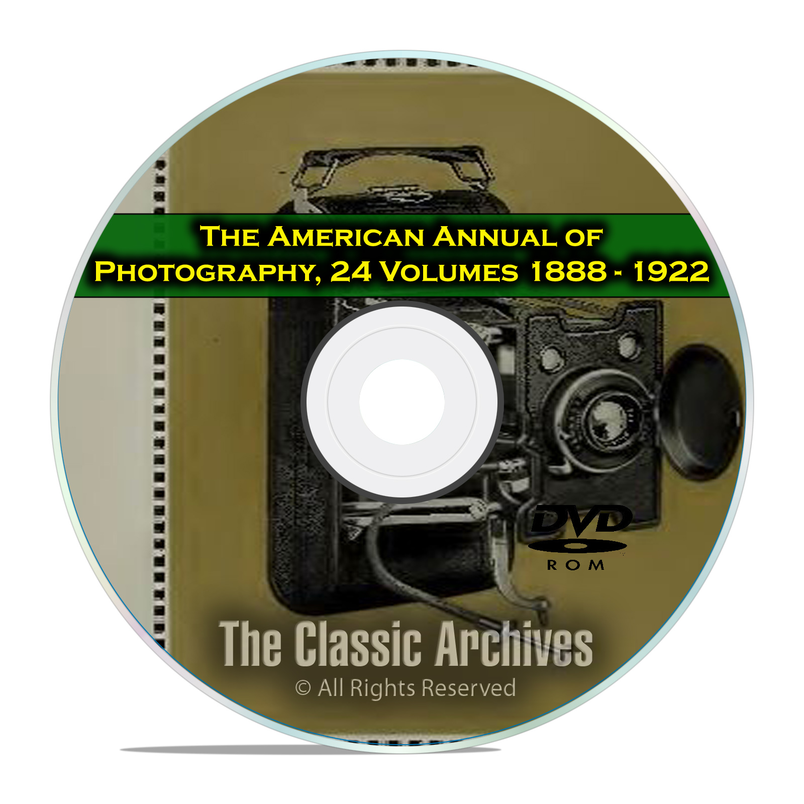 The American Annual of Photography, Camera Photo Developing History PDF DVD