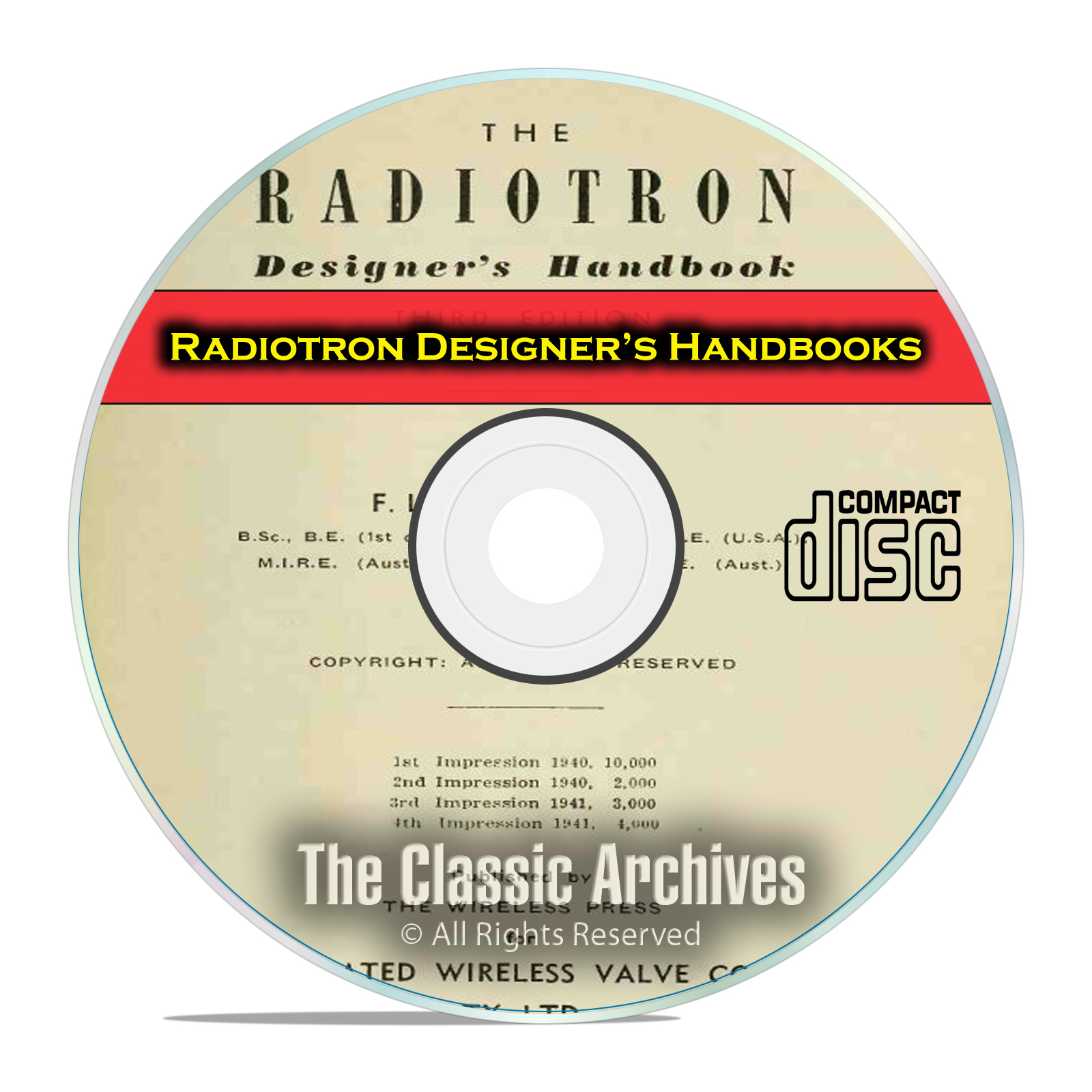 RCA Radiotron Designer's Handbooks, 3rd, 4th Edition, Vintage Tube Radio CD