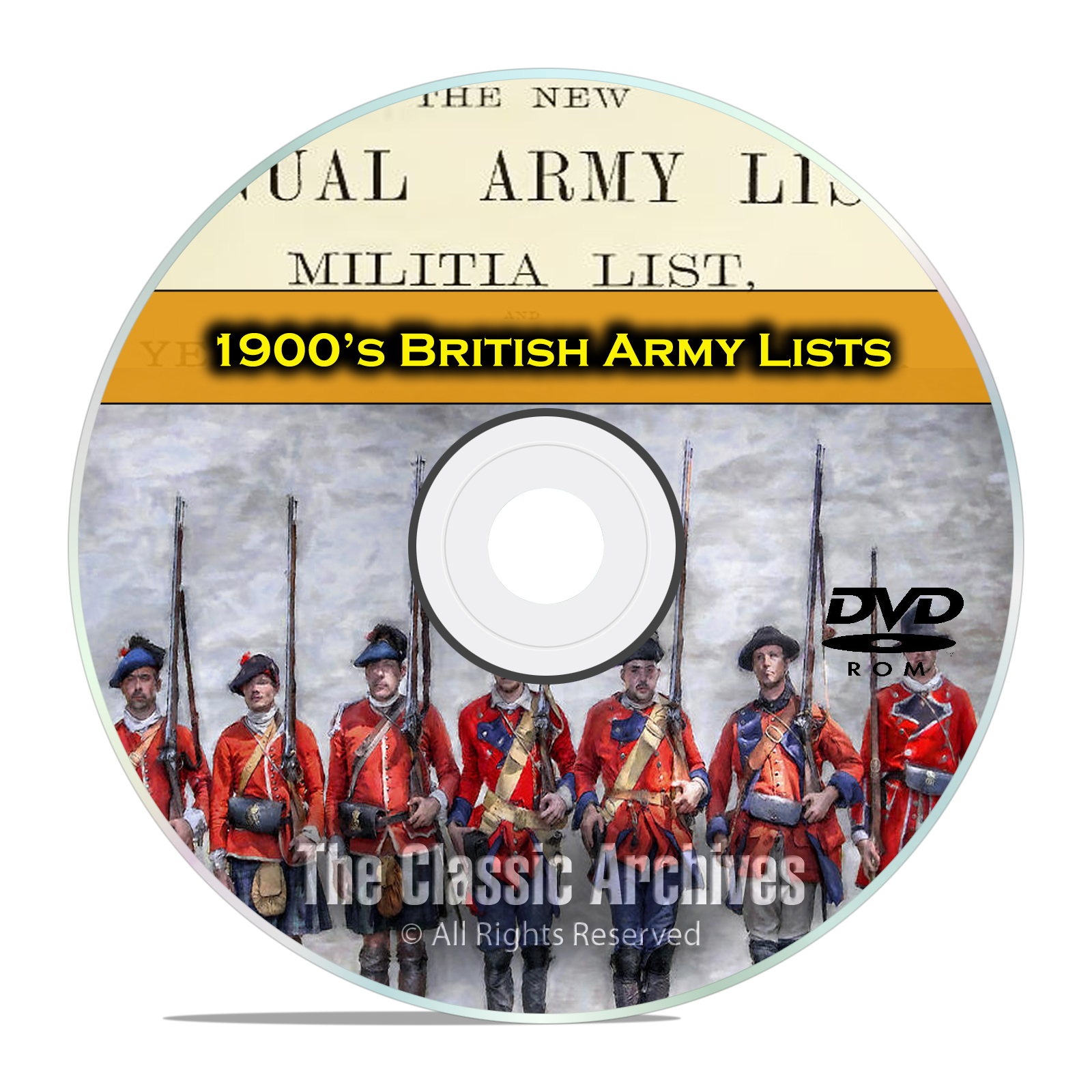 1900s WWI British Army Lists, 1900-1916, 38 Volumes British History PDF DVD