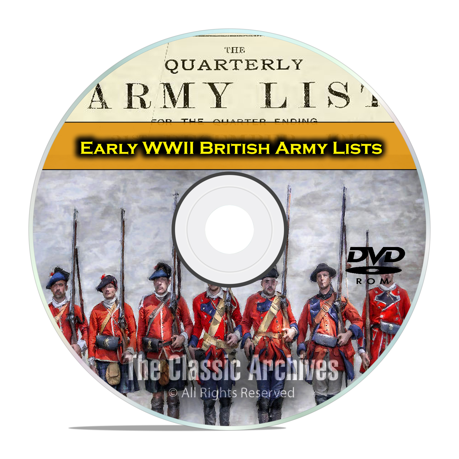 Early WWII British Army Lists,1919-1943, 40 Volumes British History PDF DVD
