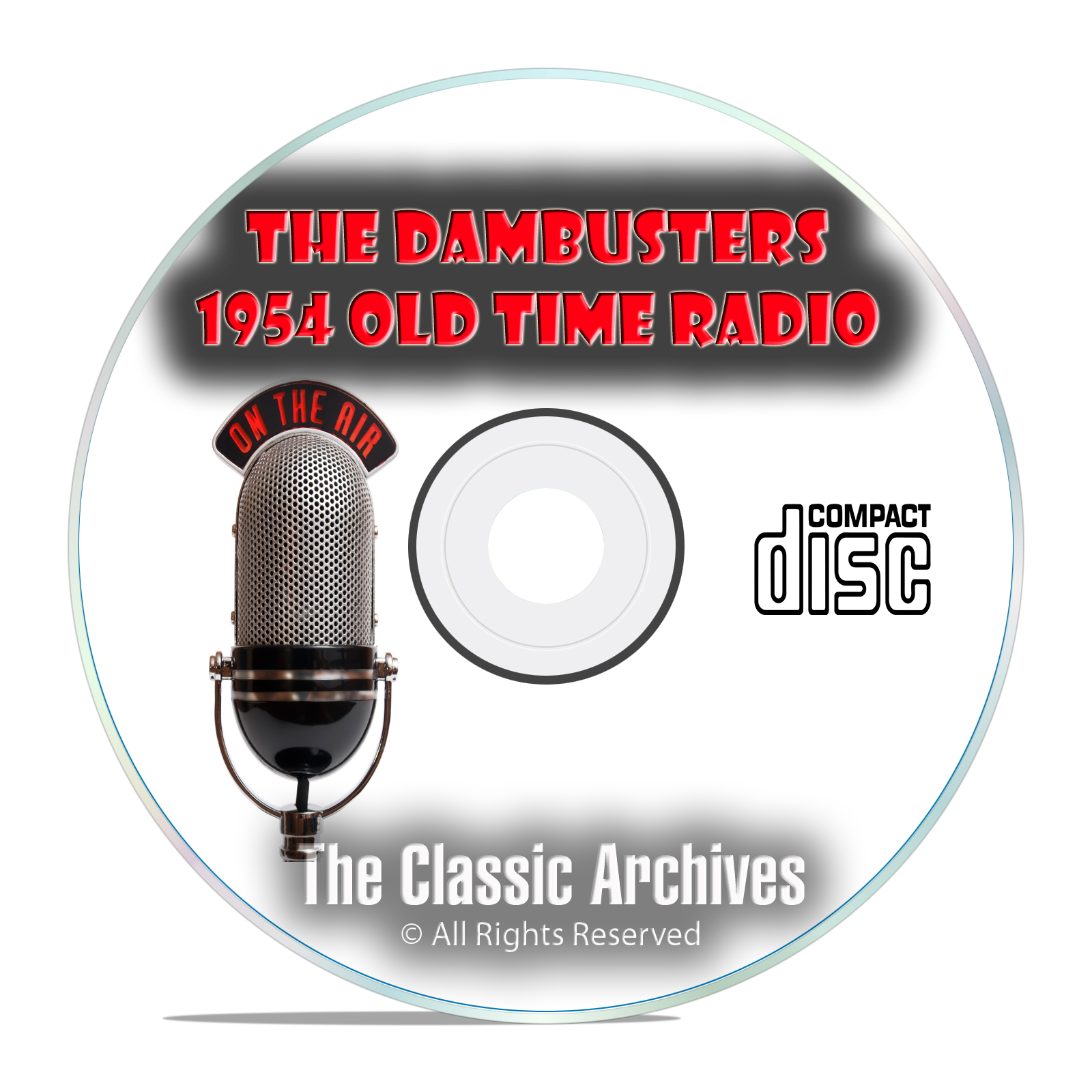 The Dambusters 1954 Classic Old Time Radio OTR Drama, WW2 13 Hours MP3 CD