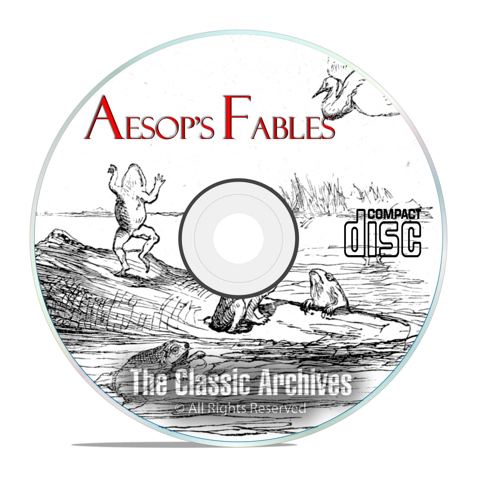 312 Classic Aesop's Fables, MP3 AudioBook Collection, Children's Stories CD