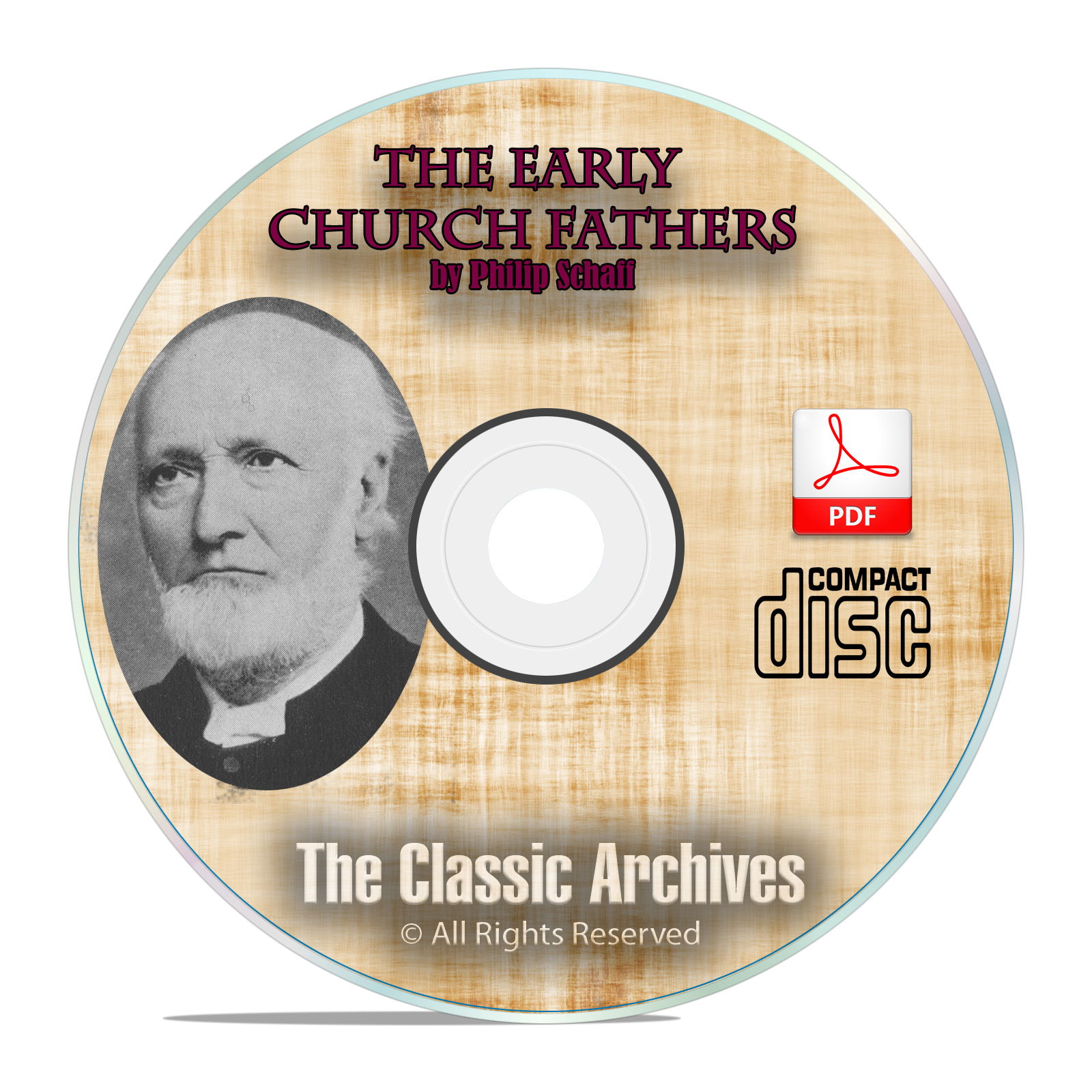The Early Church Fathers, by Philip Schaff, 38 Volume Bible Study on CD-ROM