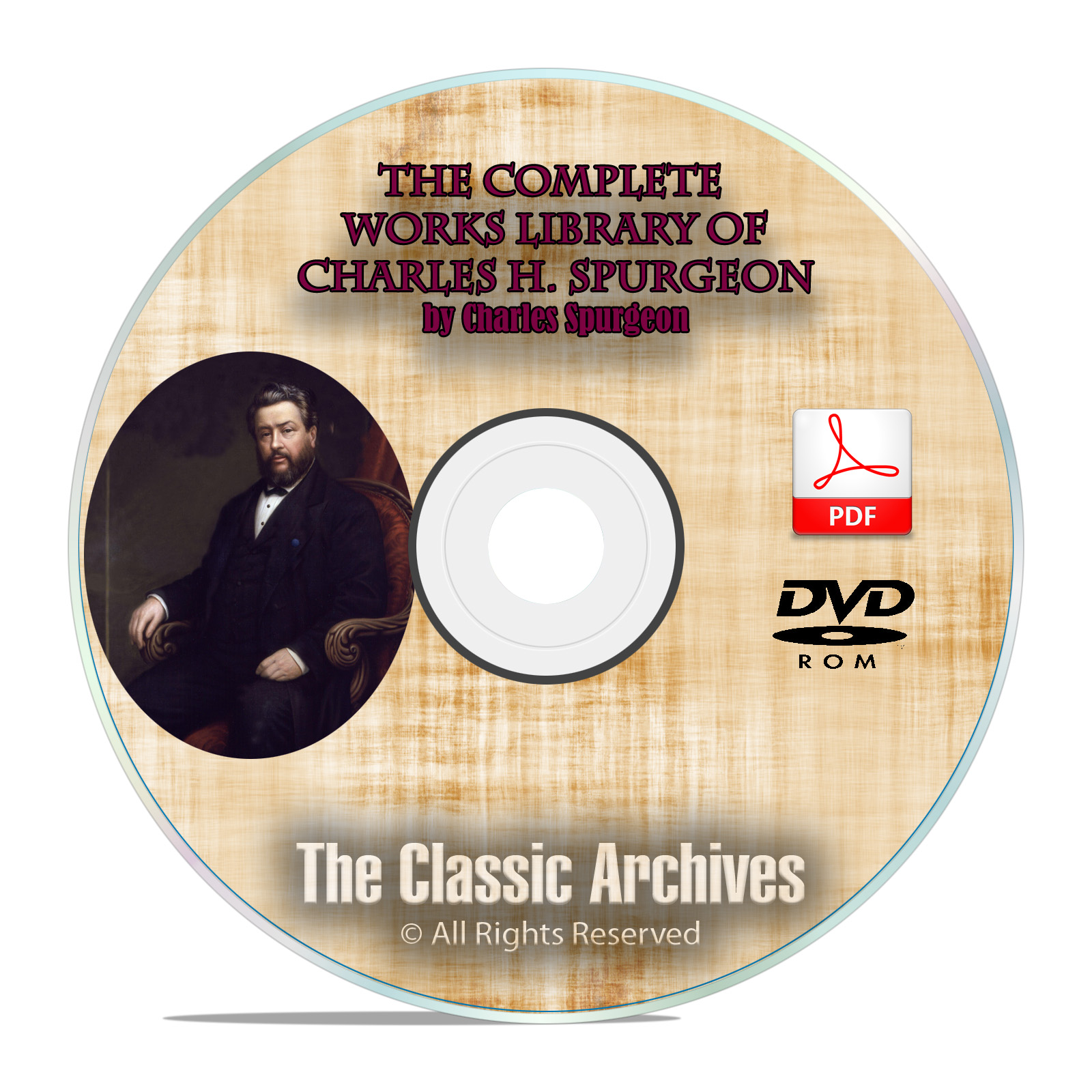 CH Spurgeon 3500 Bible Sermons Complete Works Christian Bible Study DVD-ROM