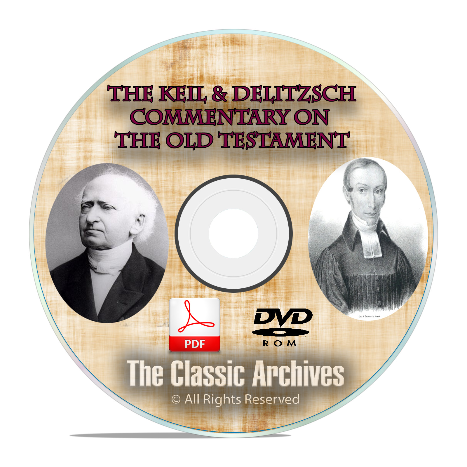 Keil & Delitzsch Commentary on Old Testament, Christian Bible Study DVD-ROM