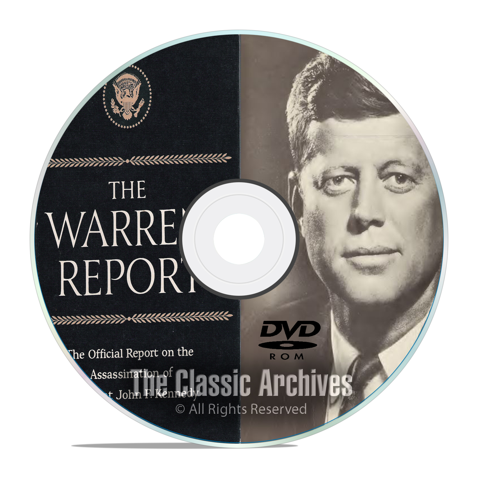 The Full Warren Commission Report, 26 Volumes, Who Killed JFK?, on PDF DVD