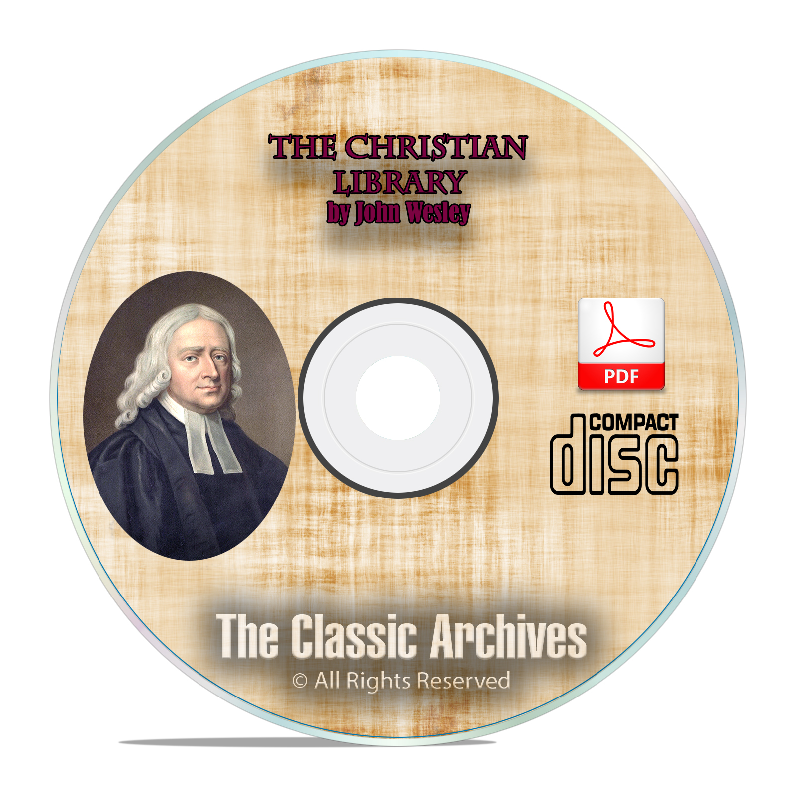 John Wesley, The Christian Library, All Volumes, Bible Commentary CD PDF