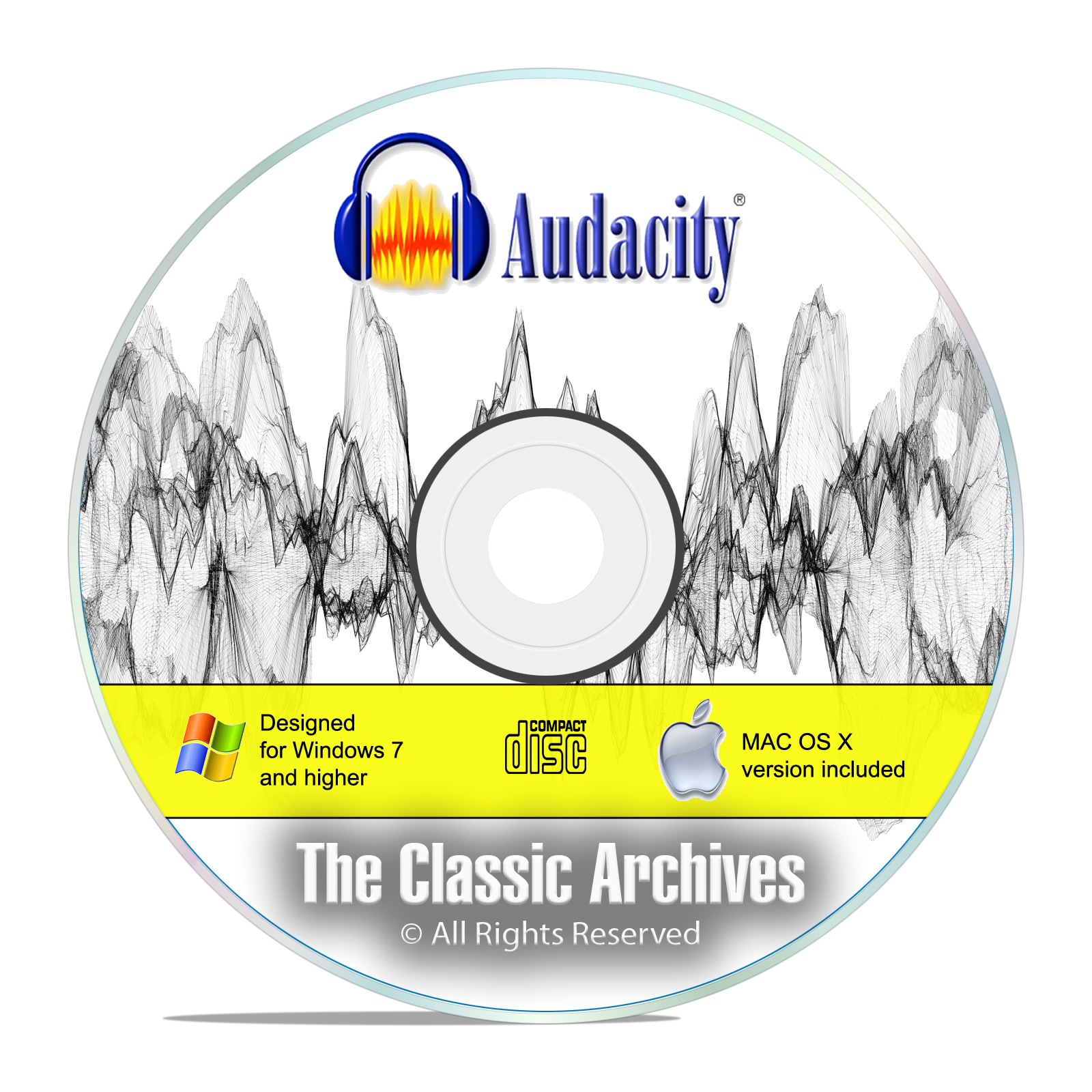 Audacity, Professional Studio Audio Recording MP3 Music Editing Software CD