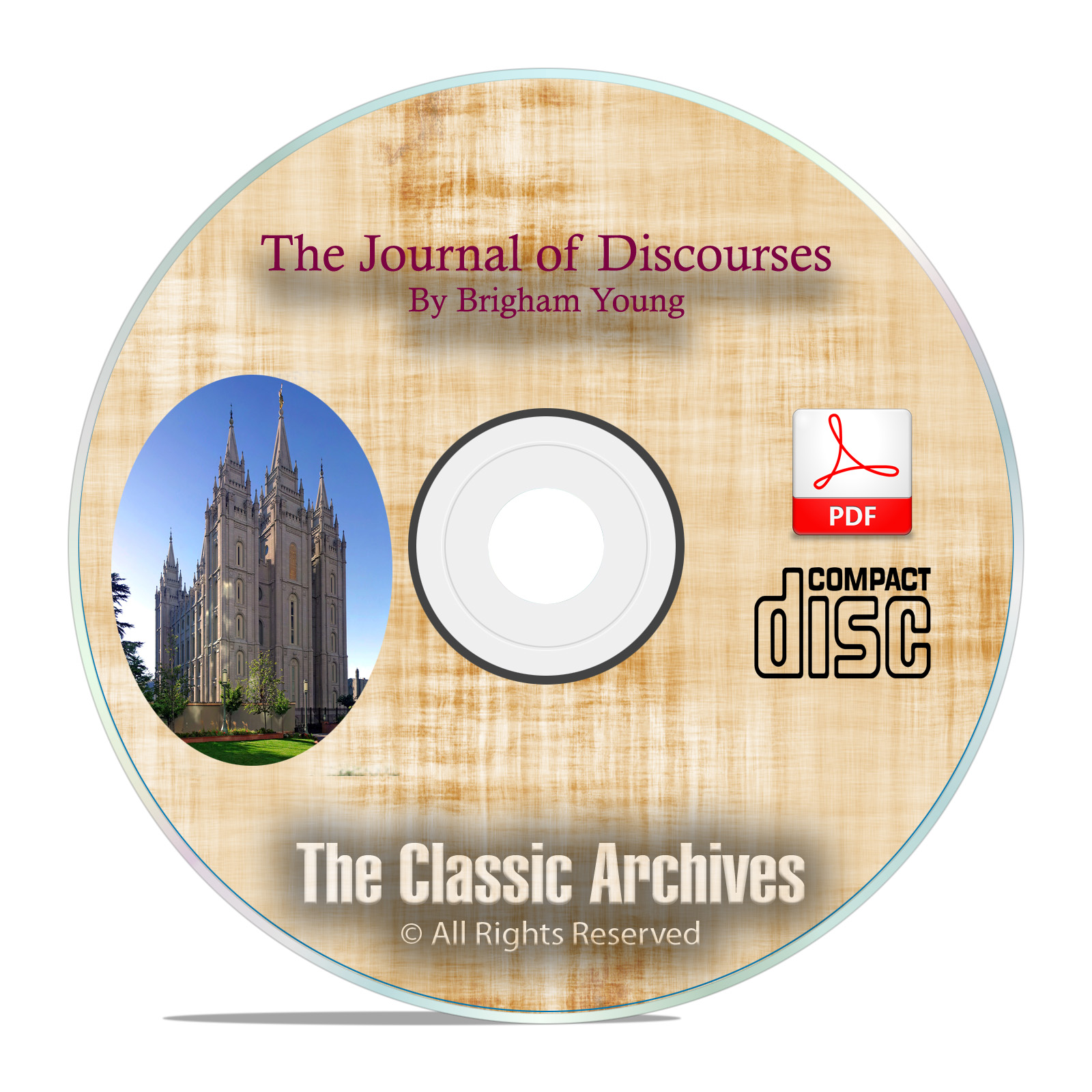 The Journal of Discourses, Brigham Young, Mormon Church, All 26 Volumes CD