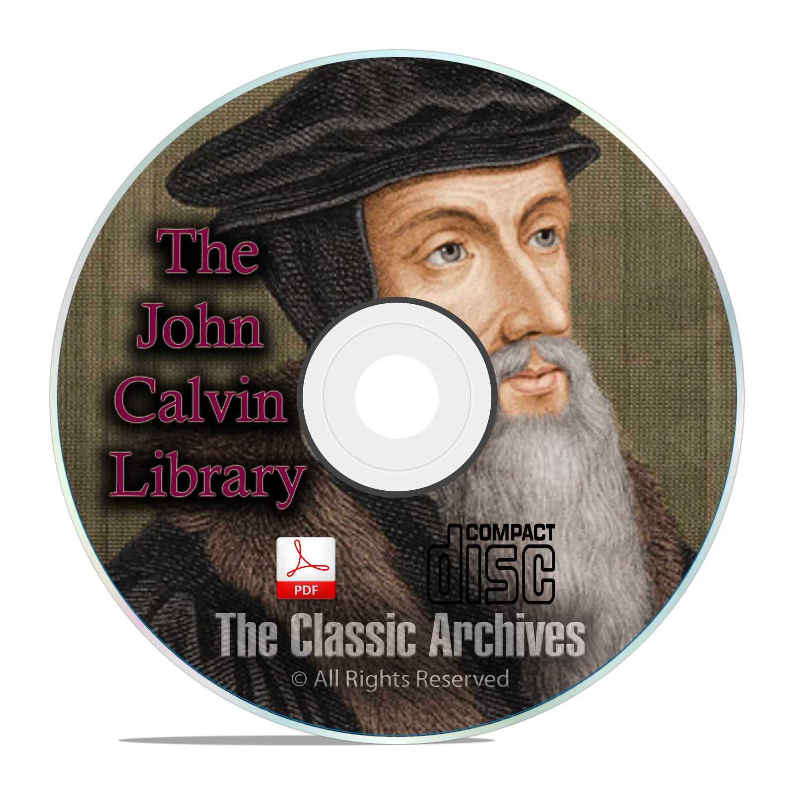 Complete Works of John Calvin Bible Commentary, 64 books Christian Study CD