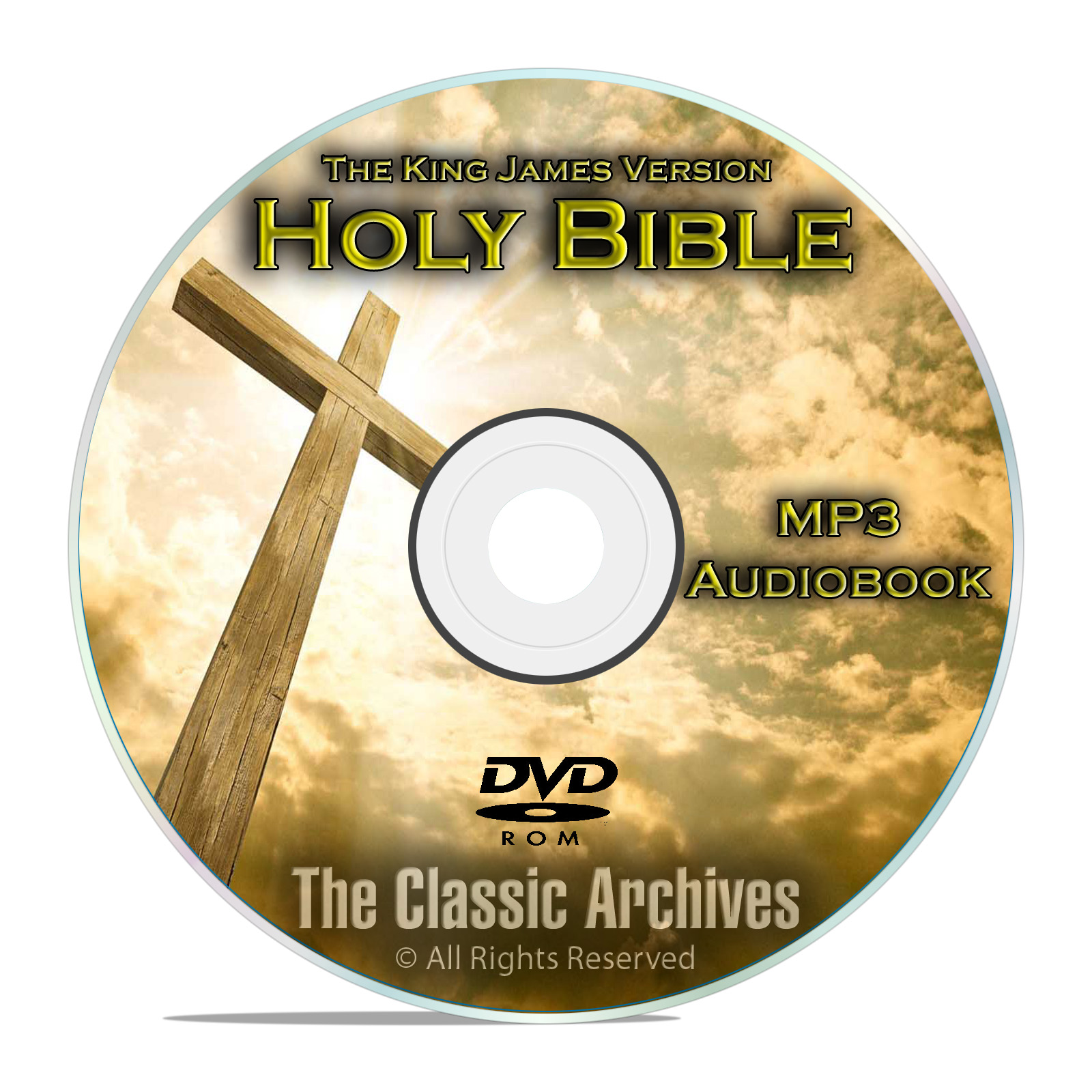 The Authorized King James Bible on MP3 Audiobook, KVJ, The Holy Bible DVD