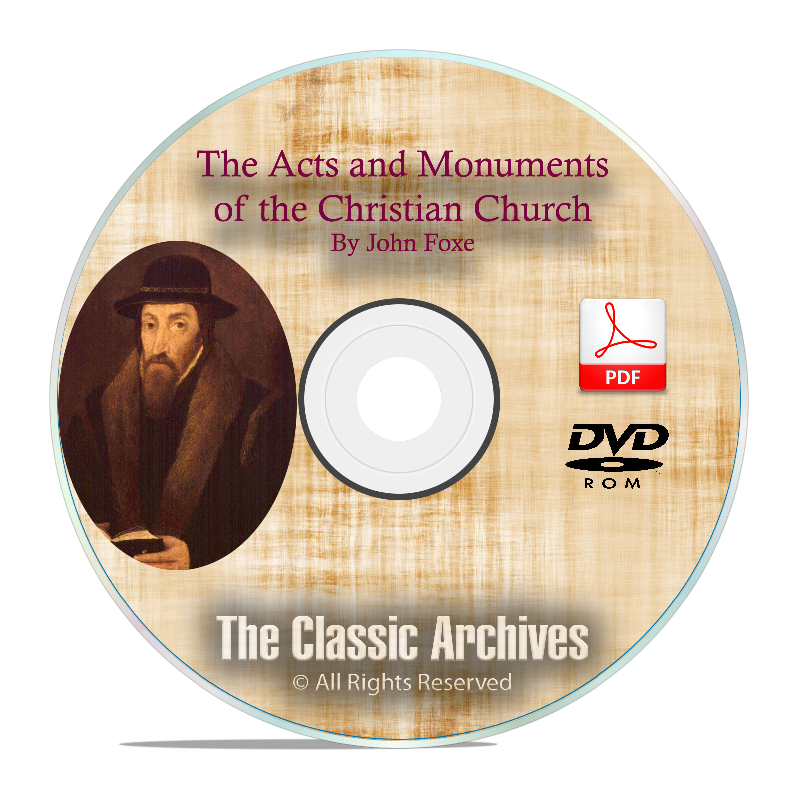 John Foxe's Acts & Monuments, Book of Martyrs, Audiobook + Original PDF DVD