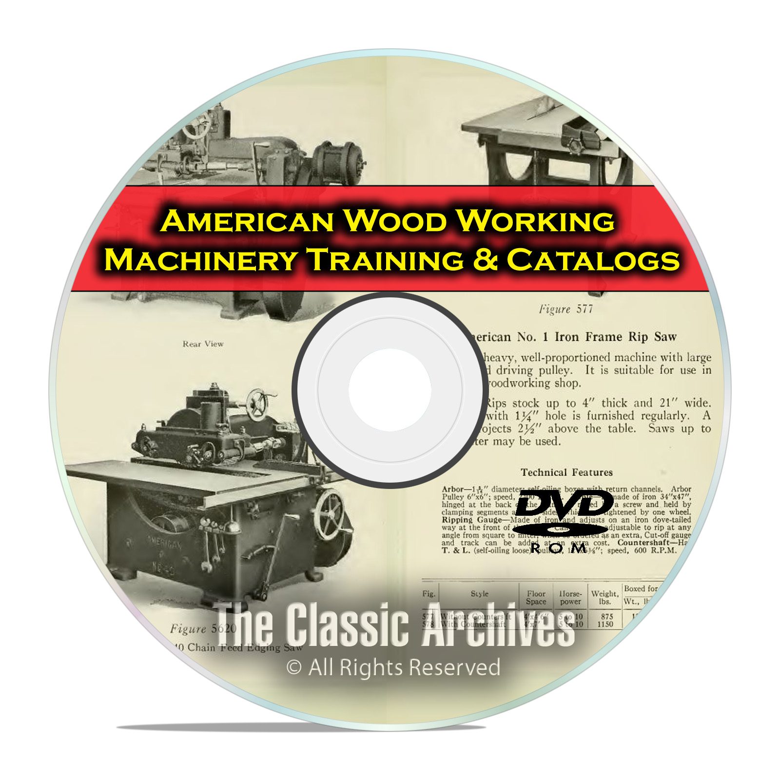 American Woodworking Machinery for Vocational Training Vintage Catalogs DVD