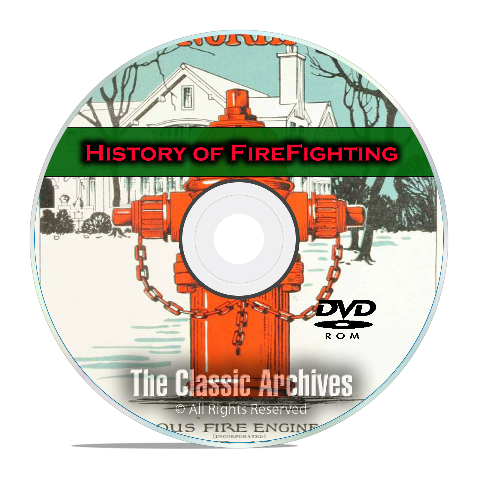 The History of Firefighting, 51 Vintage Books, Catalogs 200+ Photos PDF DVD