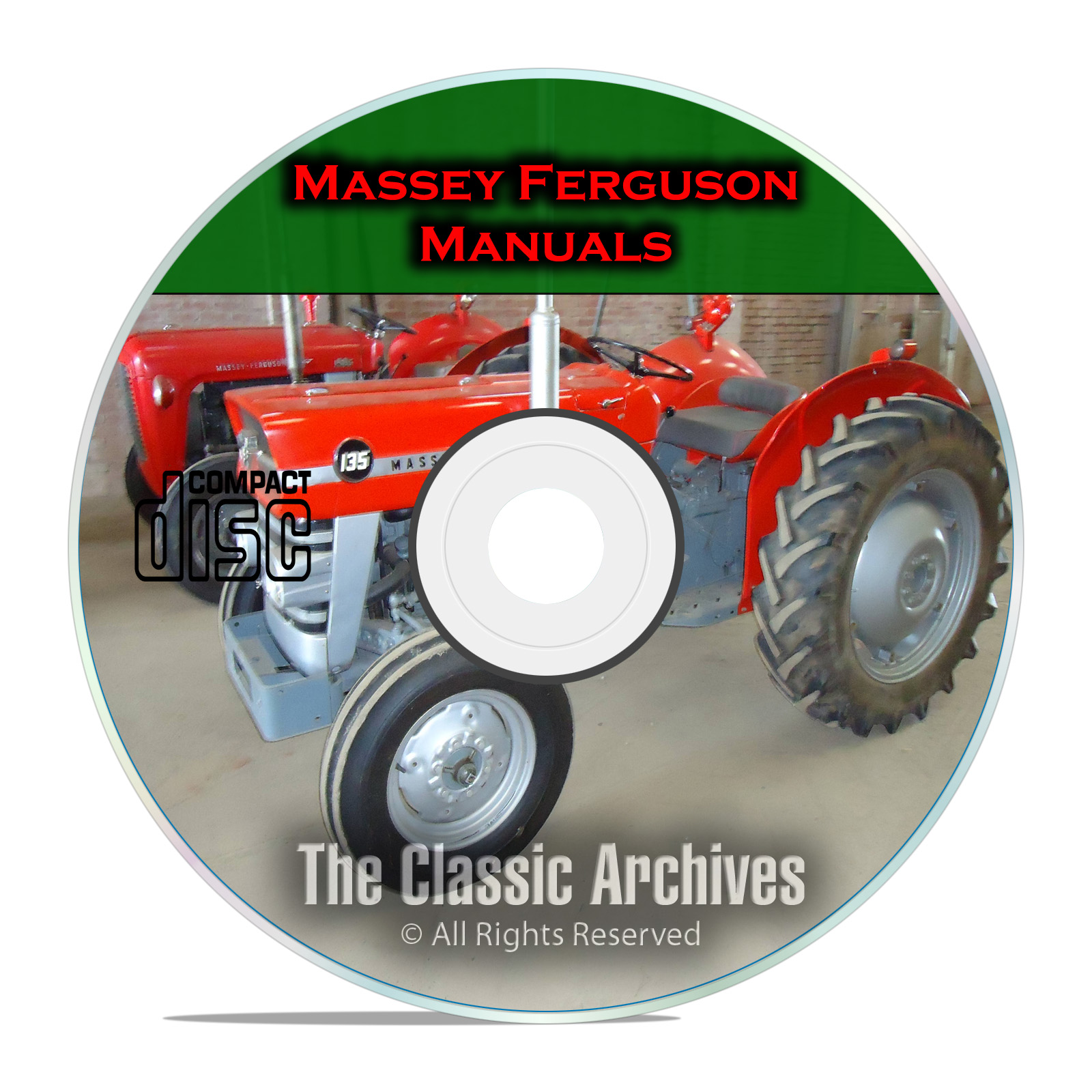 Massey Ferguson Shop Service Manuals, MF35 MF135, MF150, MF165, 34 total CD