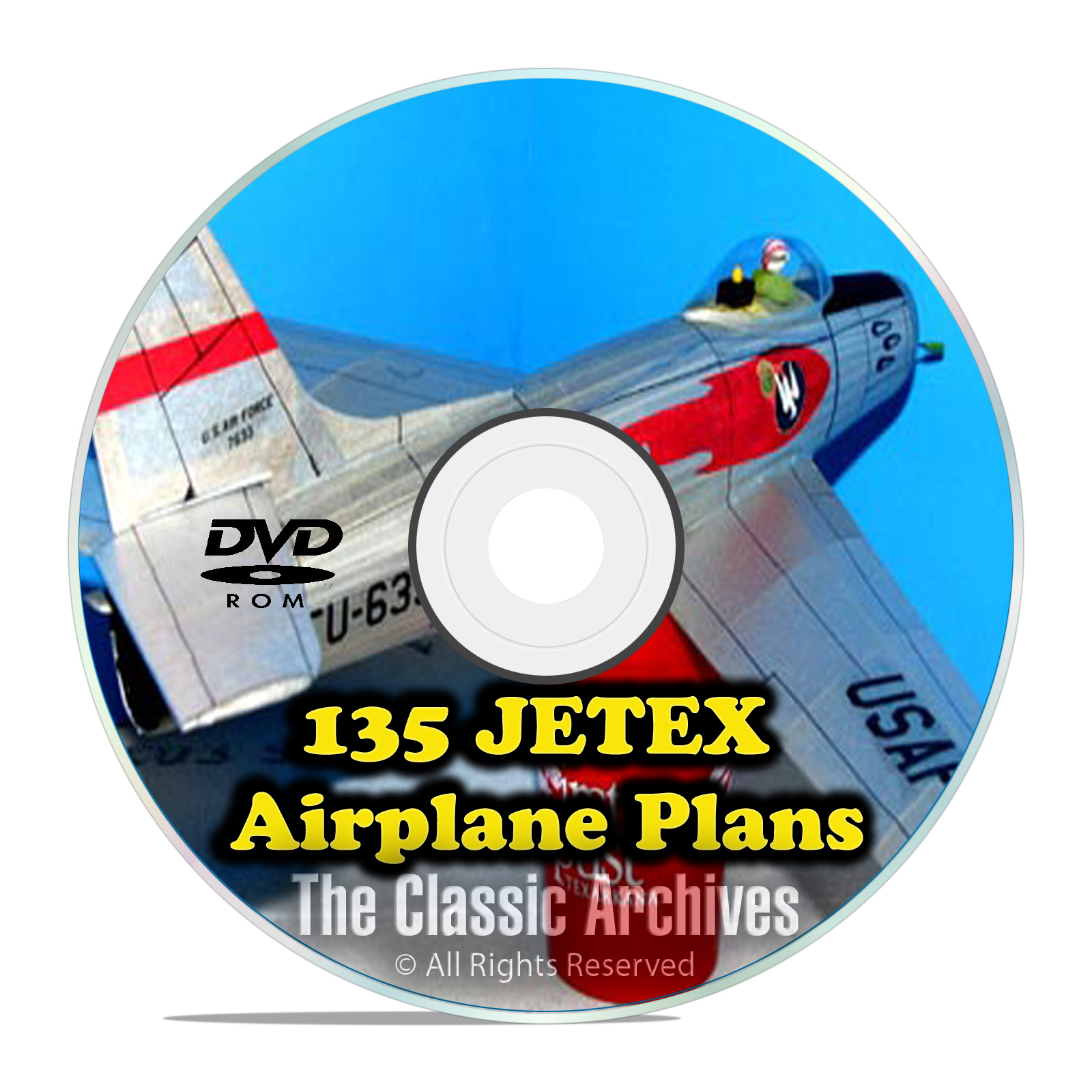 135+ JETEX Scale Model Airplane Plans, Templates Bombers Jets Glider PDF DV