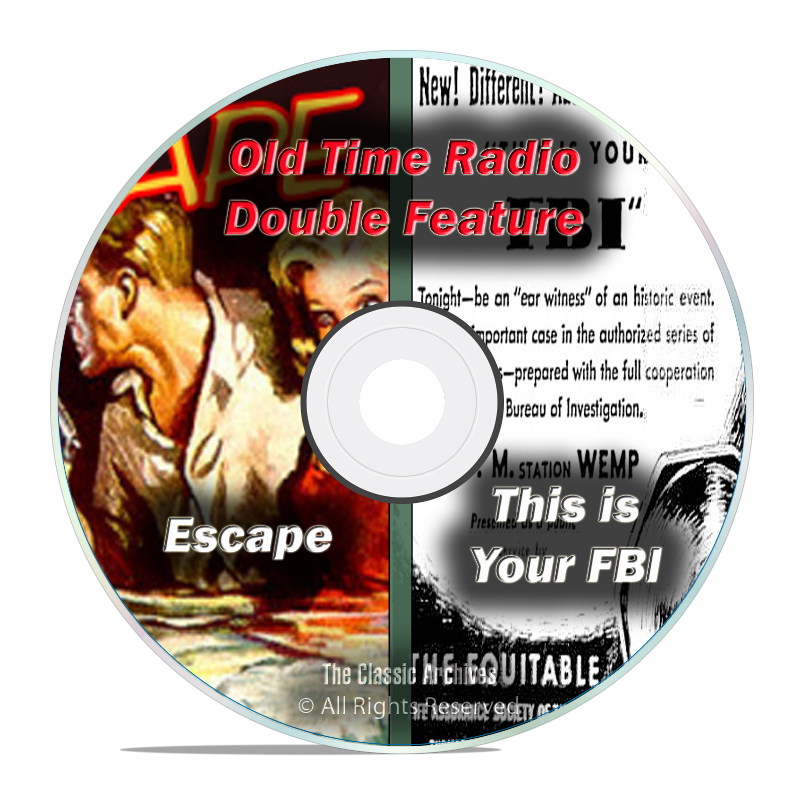 This Is Your FBI & ESCAPE, 646 shows, FULL RUN SET, Old Time Radio OTR DVD