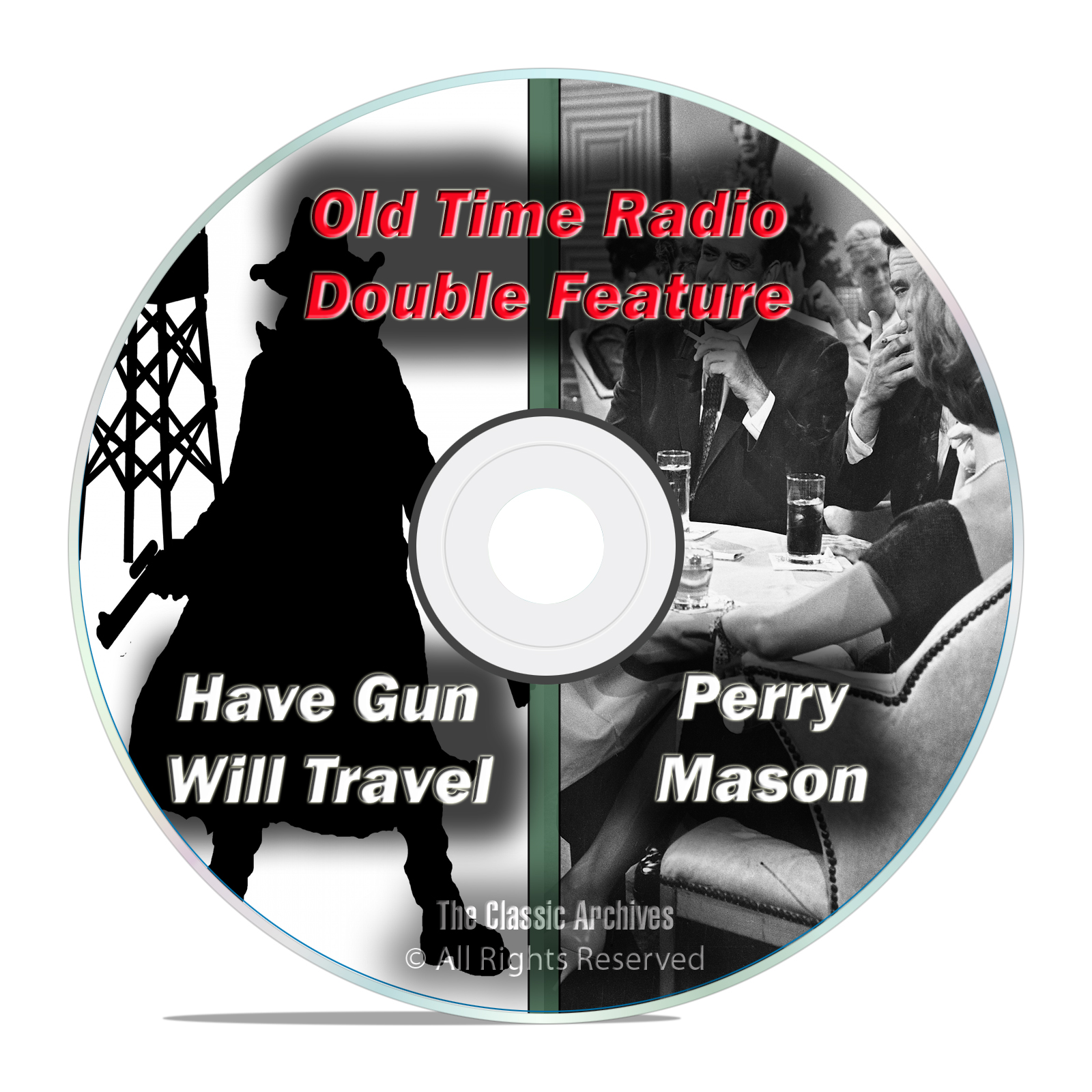 PERRY MASON + HAVE GUN WILL TRAVEL, 509 shows, FULL RUN, Old Time Radio DVD