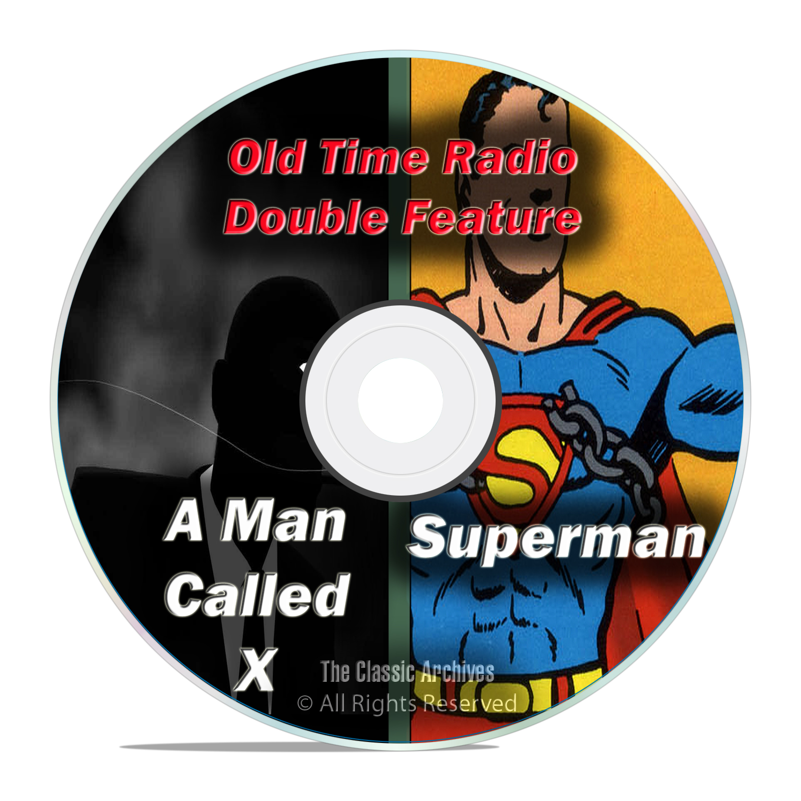 SUPERMAN, The Man Called X, All Known 1,281 Old Time Radio Shows MP3 DVD