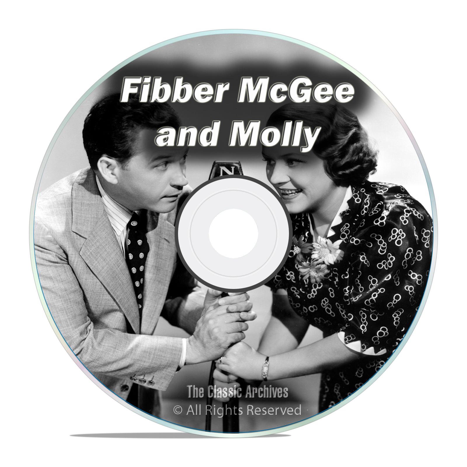 Fibber McGee and Molly, All Known 1,127 Old Time Radio Shows MP3 DVD