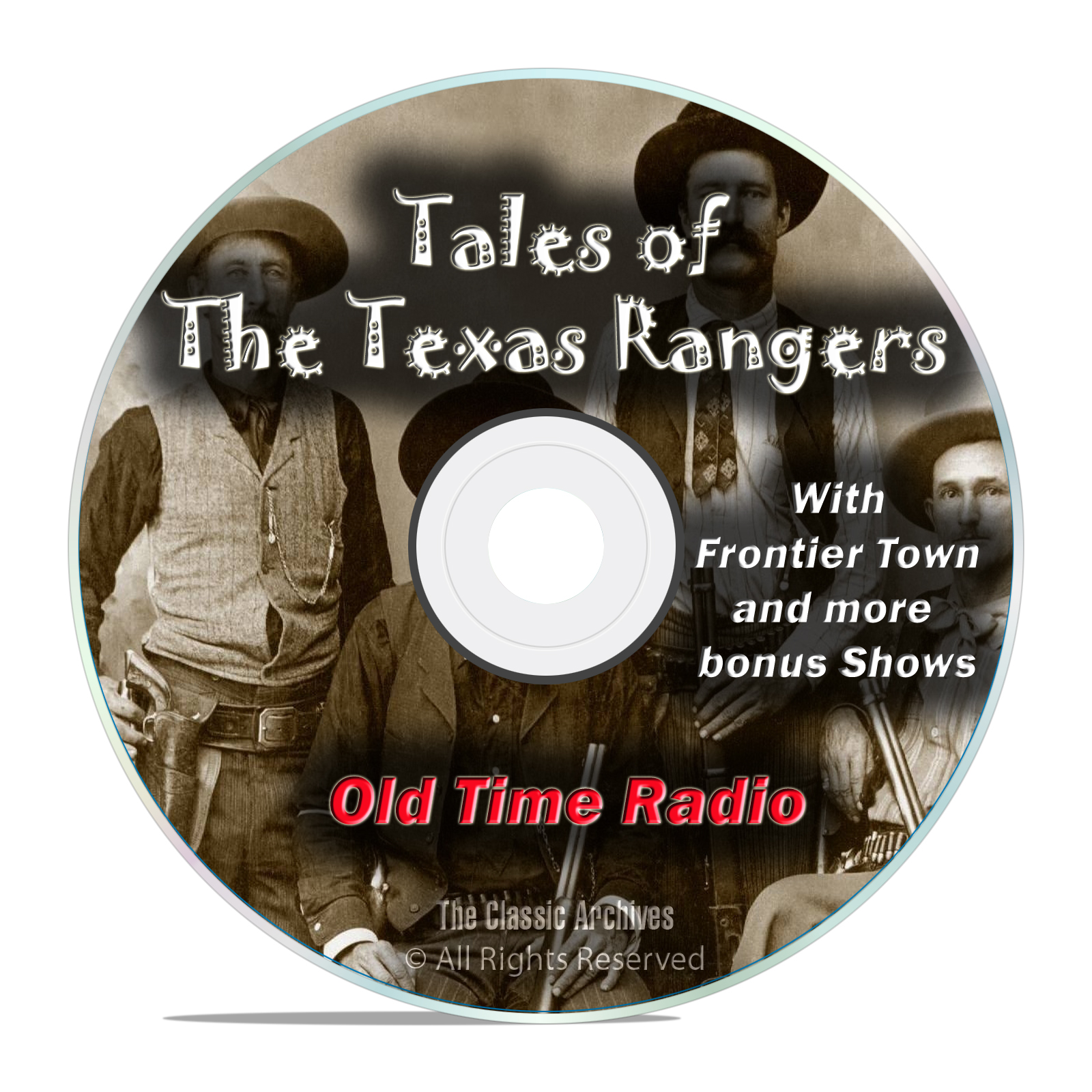 Tales of the Texas Rangers, 205 Episodes Old Time Radio Westerns OTR DVD