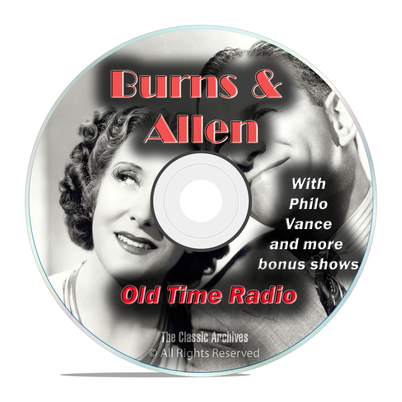 Burns & Allen, 758 Episodes Old Time Radio, Complete Set, Comedy OTR DVD
