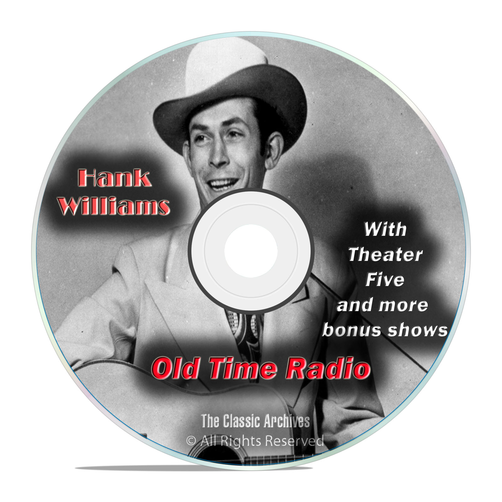 Hank Williams, 739 Episodes Old Time Radio, Complete Set, OTR DVD MP3
