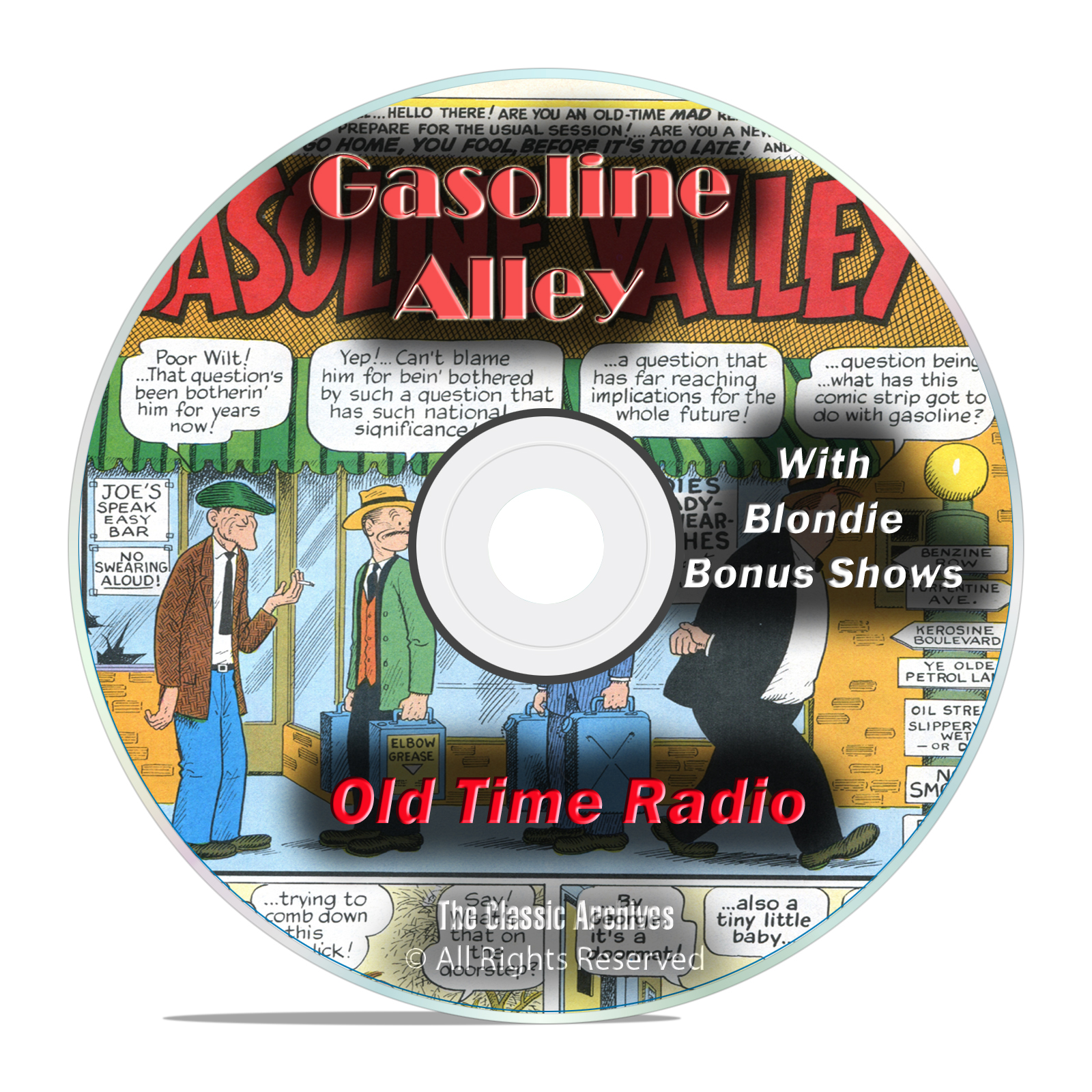 Gasoline Alley, and Blondie, 931 Old Time Radio Shows, Comedy Shows OTR