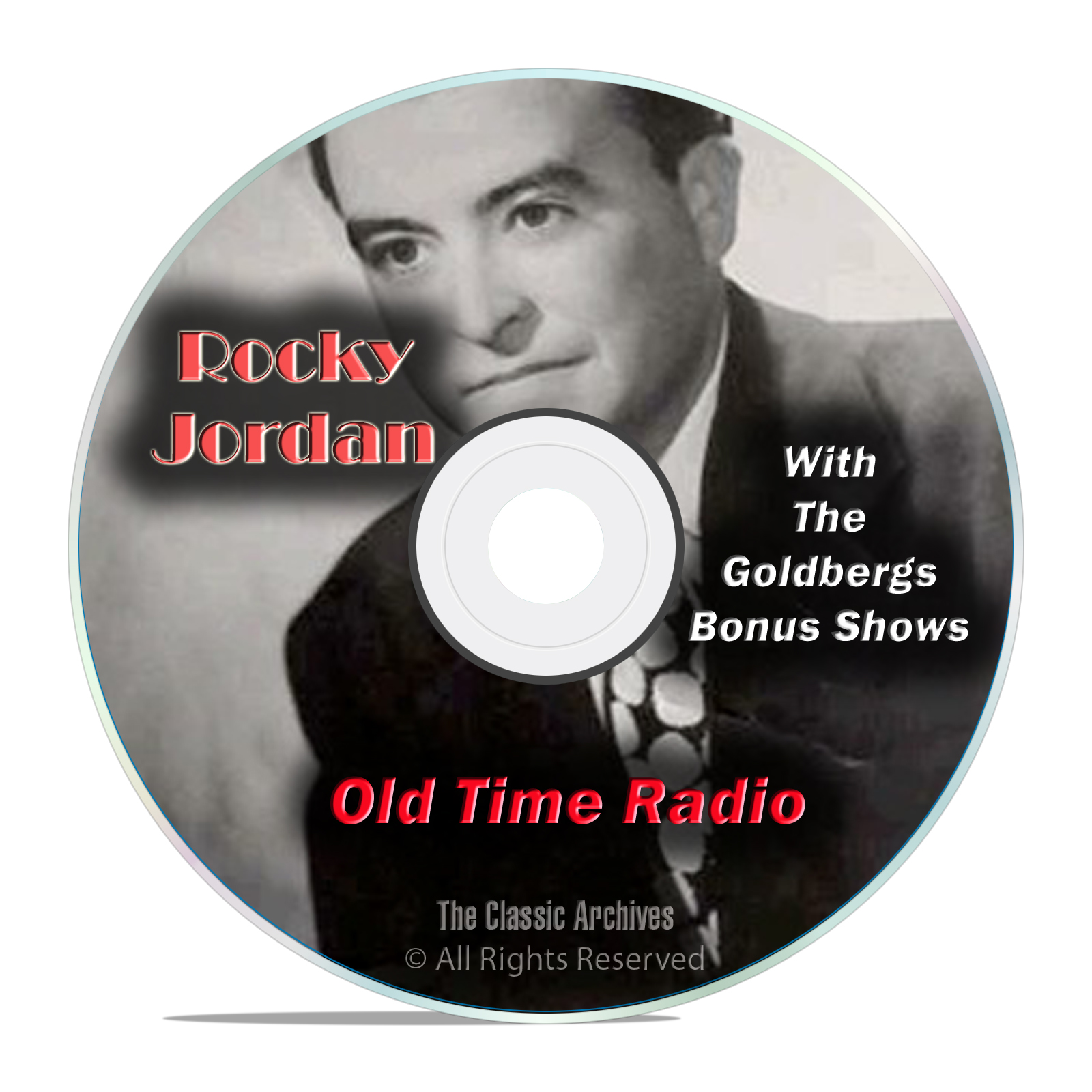 "Rocky Jordan, 1,019 Old Time Radio Shows, with bonus ""The Goldbergs"" OTR"
