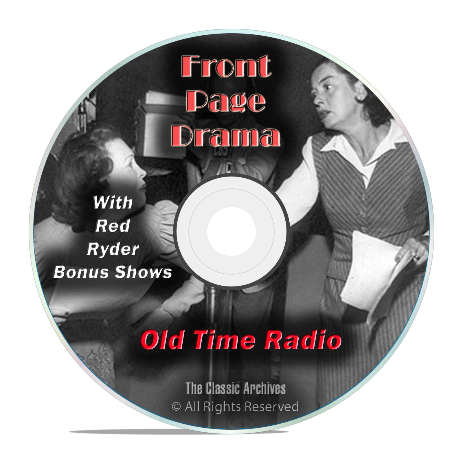 Front Page Drama, 867 Classic Old Time Radio Drama Shows, OTR mp3 DVD