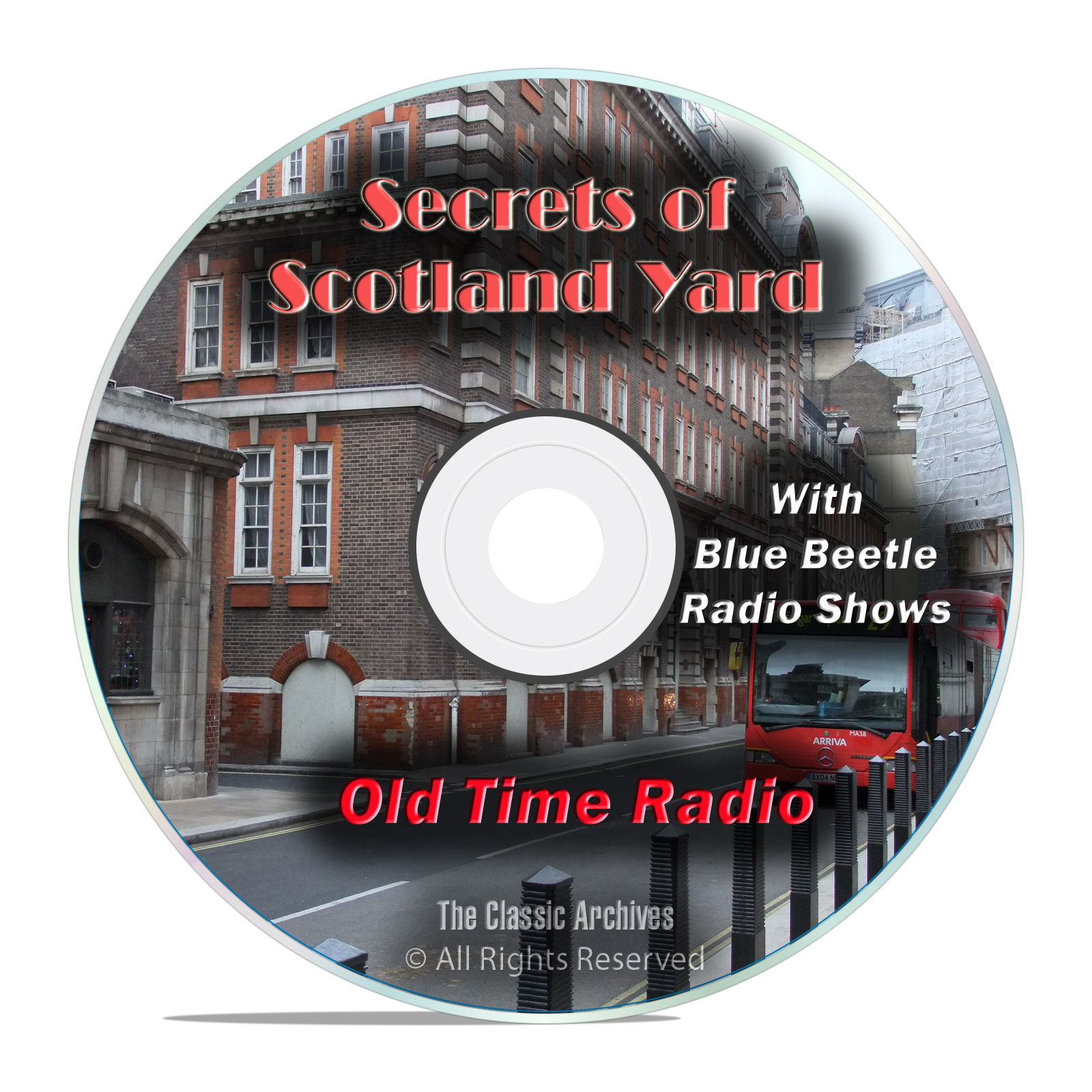 Secrets of Scotland Yard, 941 Old Time Radio Mystery Shows, OTR mp3 DVD