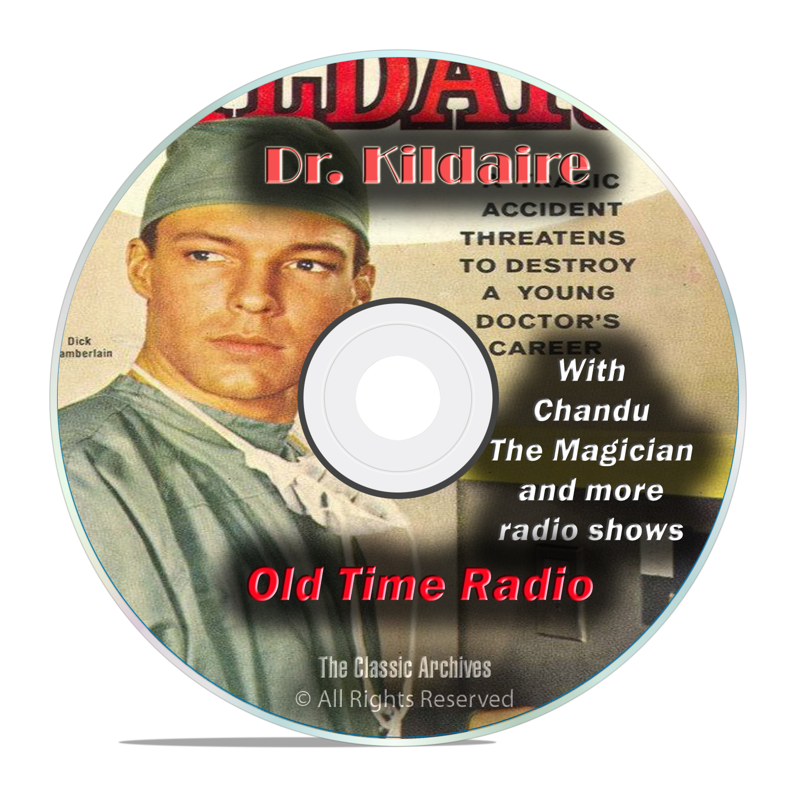 Dr. Kildaire, 1,023 Classic Old Time Radio Medical Drama Shows, OTR mp3 DVD