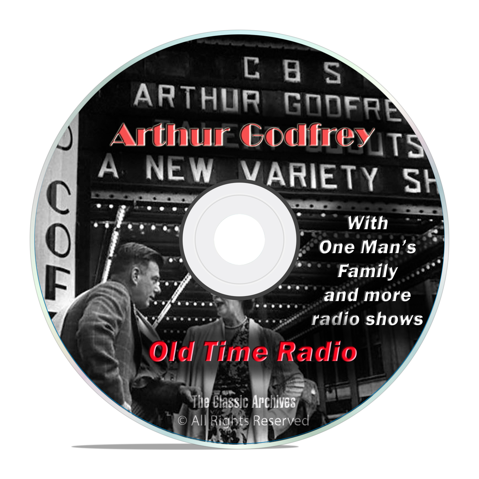 Arthur Godfrey, 1,382 Classic Old Time Radio Shows Horror Thriller OTR DVD - Click Image to Close