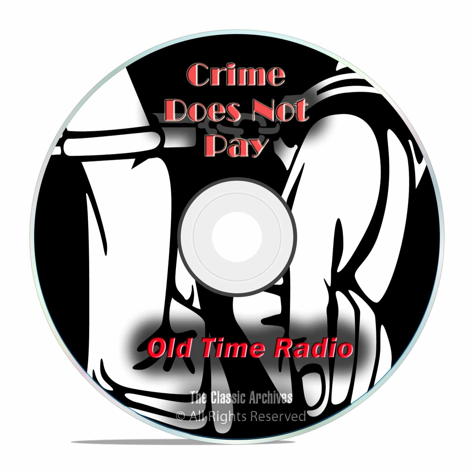 Crime Does Not Pay!, 728 Classic Old Time Radio Crime Drama Shows, OTR DVD