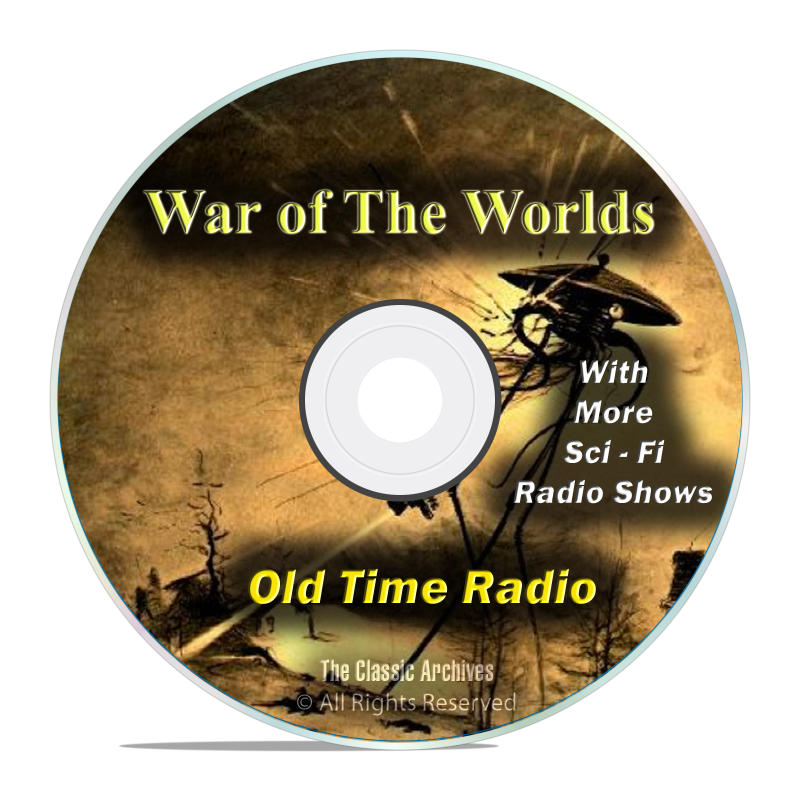 The War of the Worlds, HG Wells, with 960 Old Time Radio SCI FI Episodes