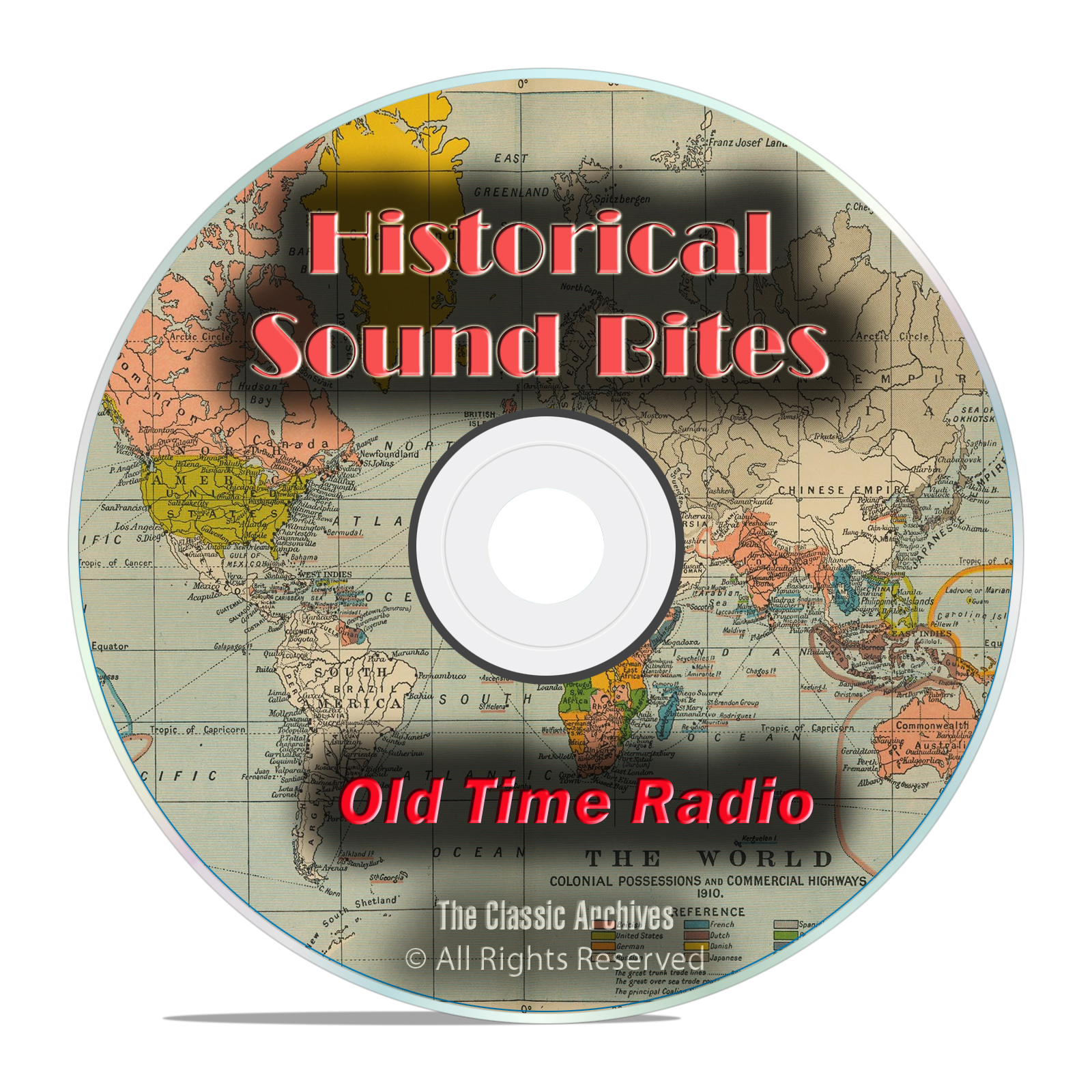 WWII Historical Sound Bites, 1,672 Old Time Radio Sound Clips mp3 DVD