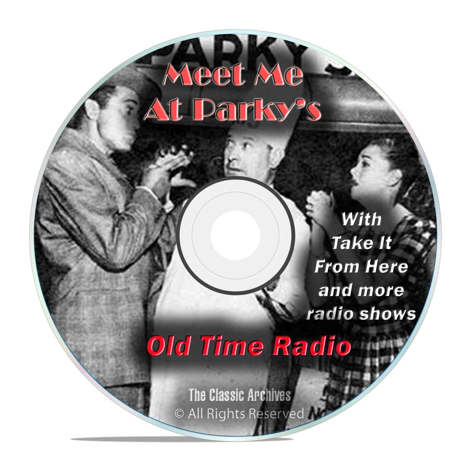 Meet Me At Parky's, 640 Old Time Radio Sitcom Comedy Shows mp3 DVD