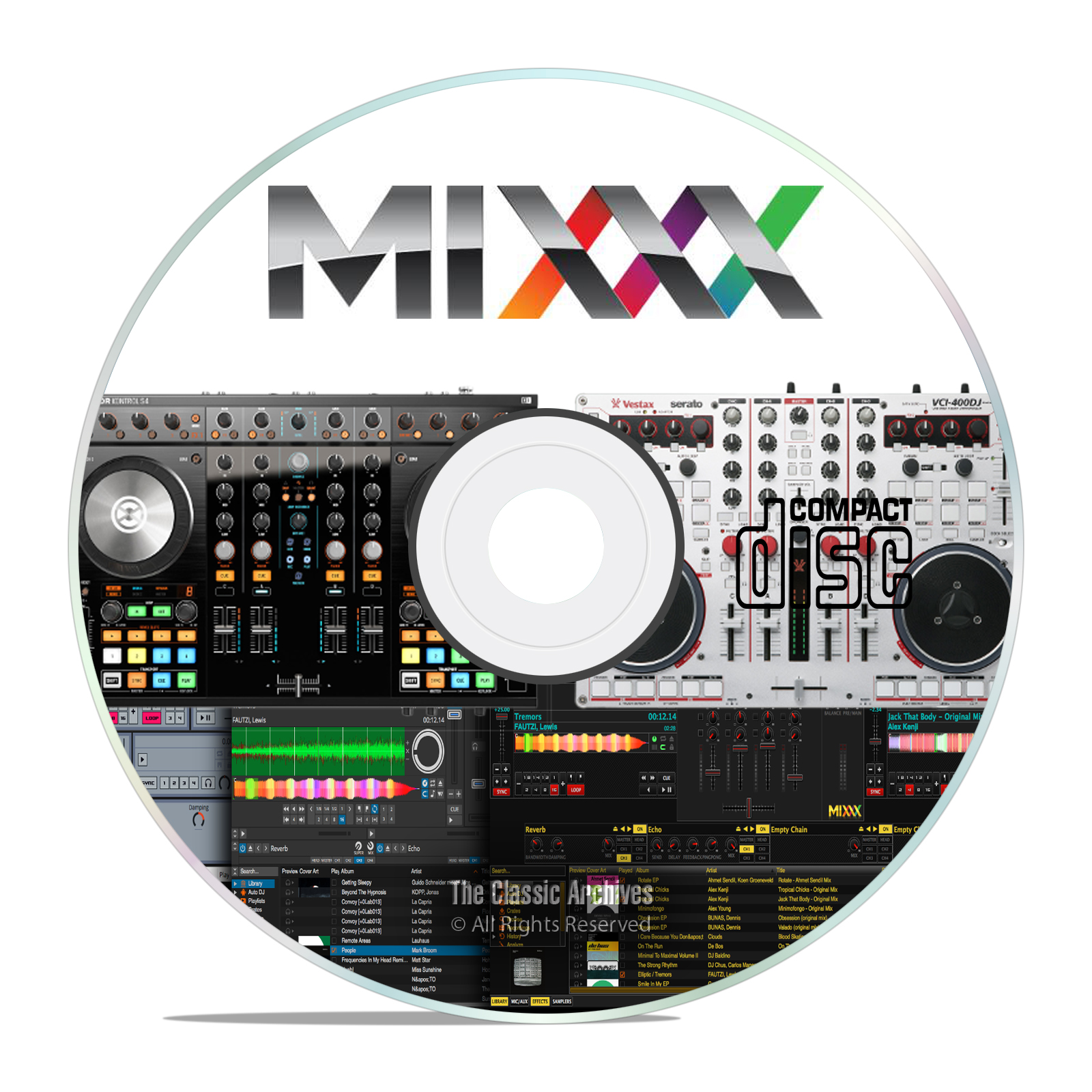 Professional DJ Music Mixing Software, Mixxx, MIDI Controller Support CD