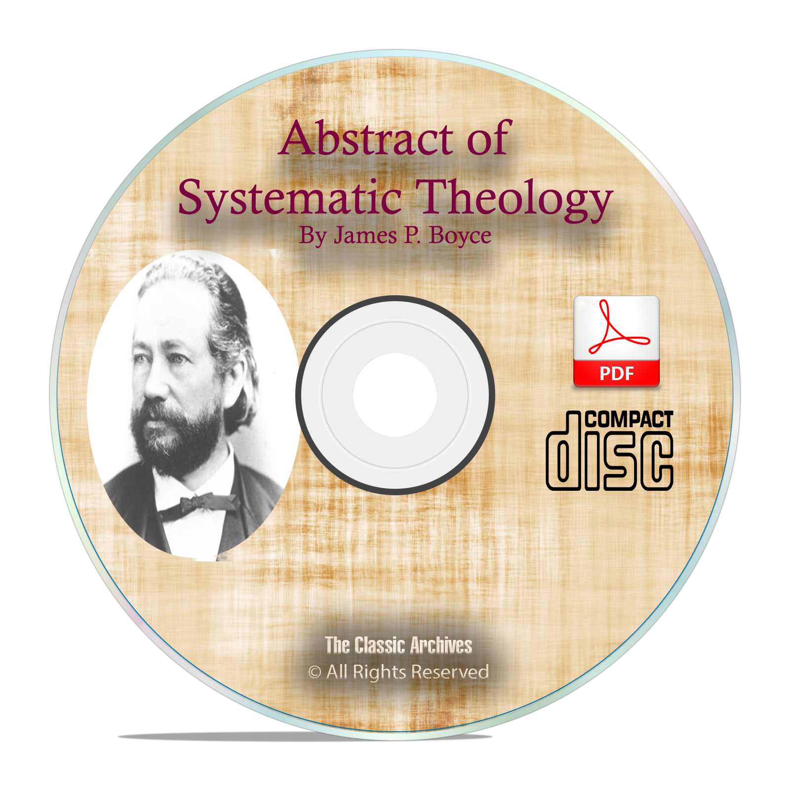 Abstract Systematic Theology, James Boyce, Bible Commentary Study PDF CD