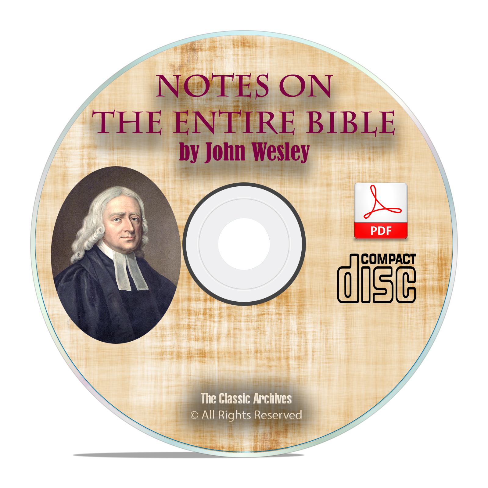 John Wesley's Notes on the Entire Bible, Scripture Commentary Study PDF CD