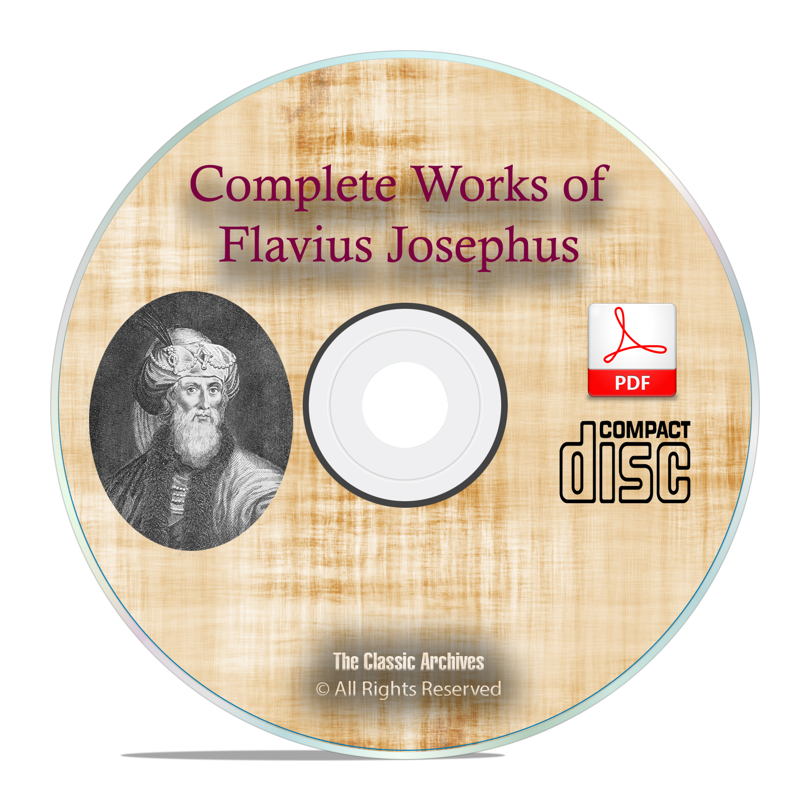 Complete Works, Flavius Josephus, Christian Church History, Jewish PDF CD