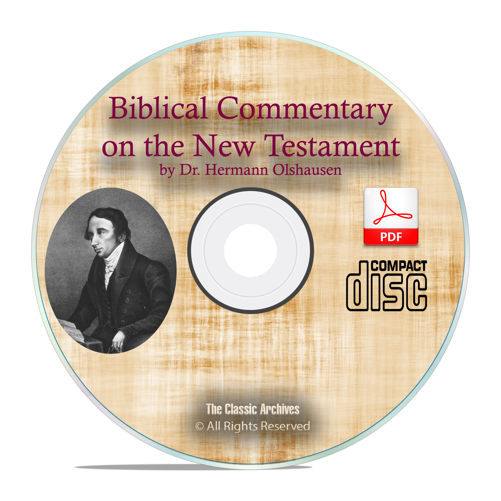 Biblical Commentary New Testament, Hermann Olshausen, Bibe Study PDF CD