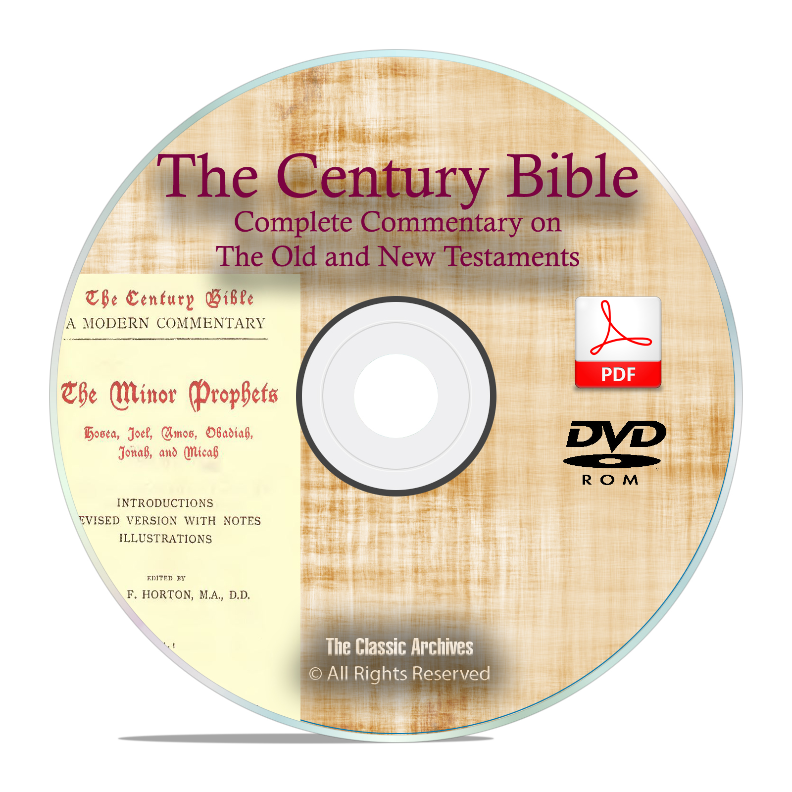 Century Bible Commentary, Old & New Testament Christian Scripture PDF DVD