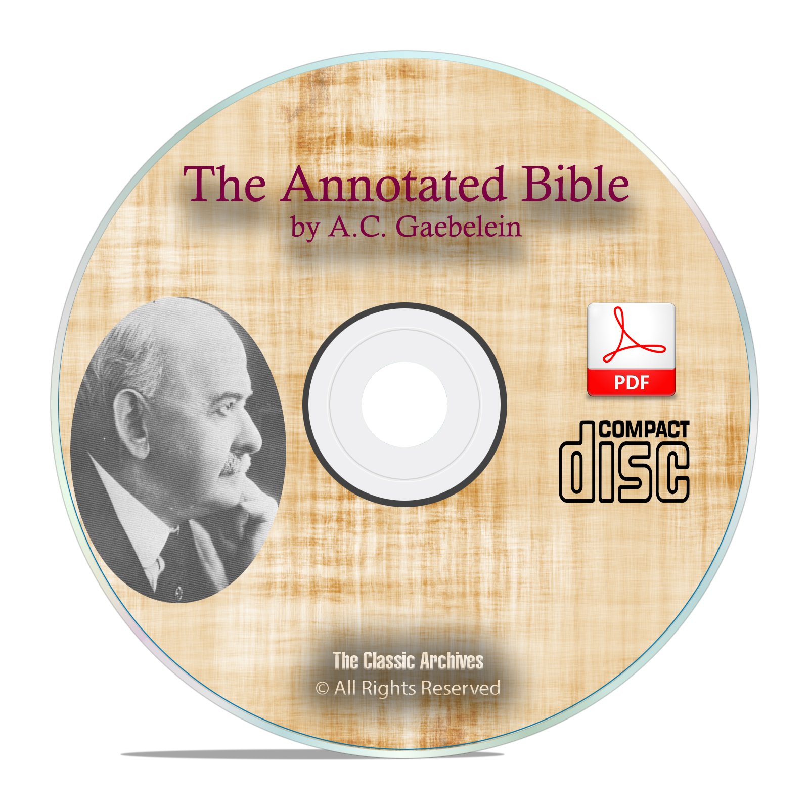The Annotated Bible, A C Gaebelein, Christian Commentary, Theology PDF CD